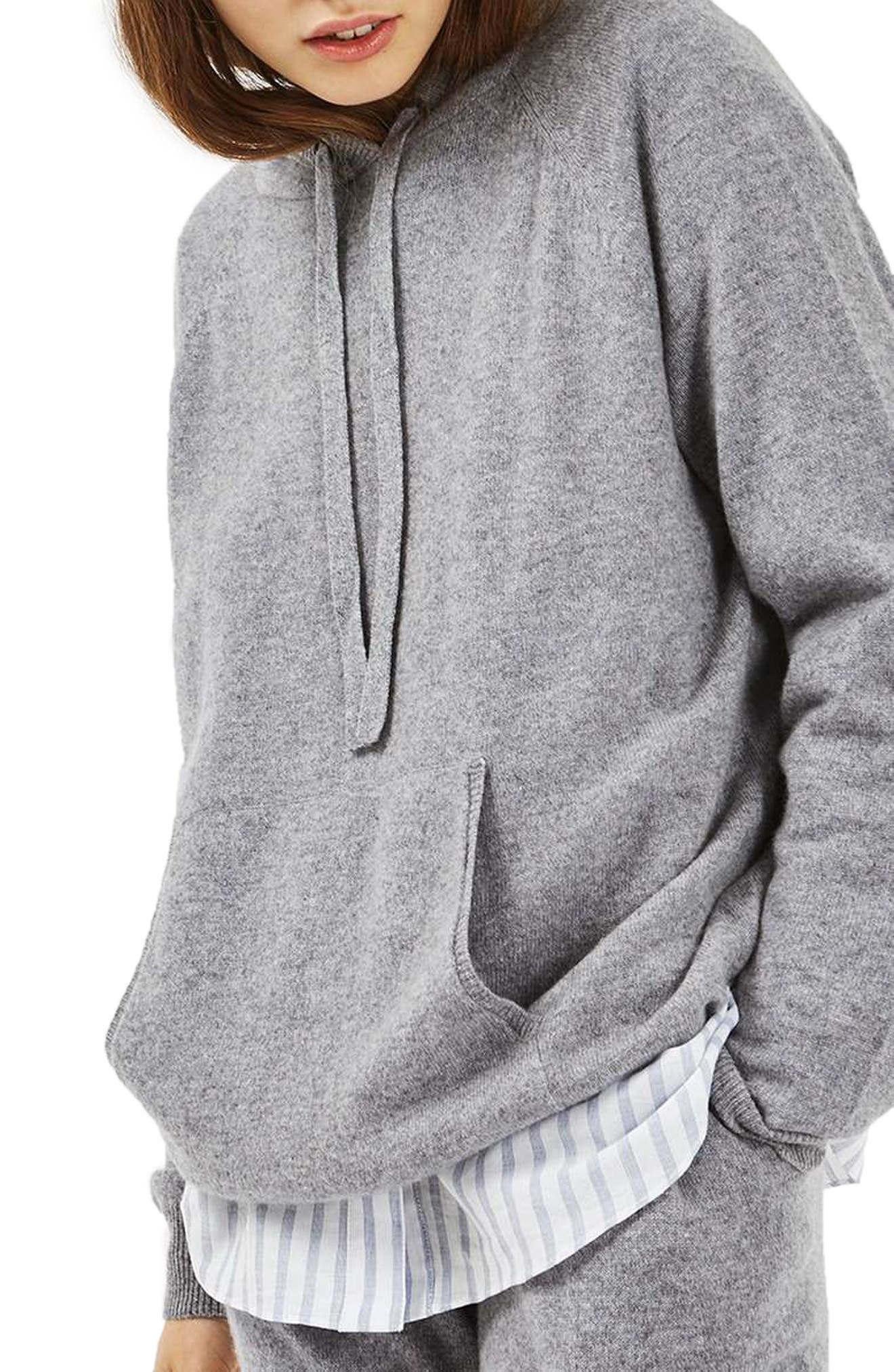 Main Image - Topshop Luxe Cashmere Hoodie