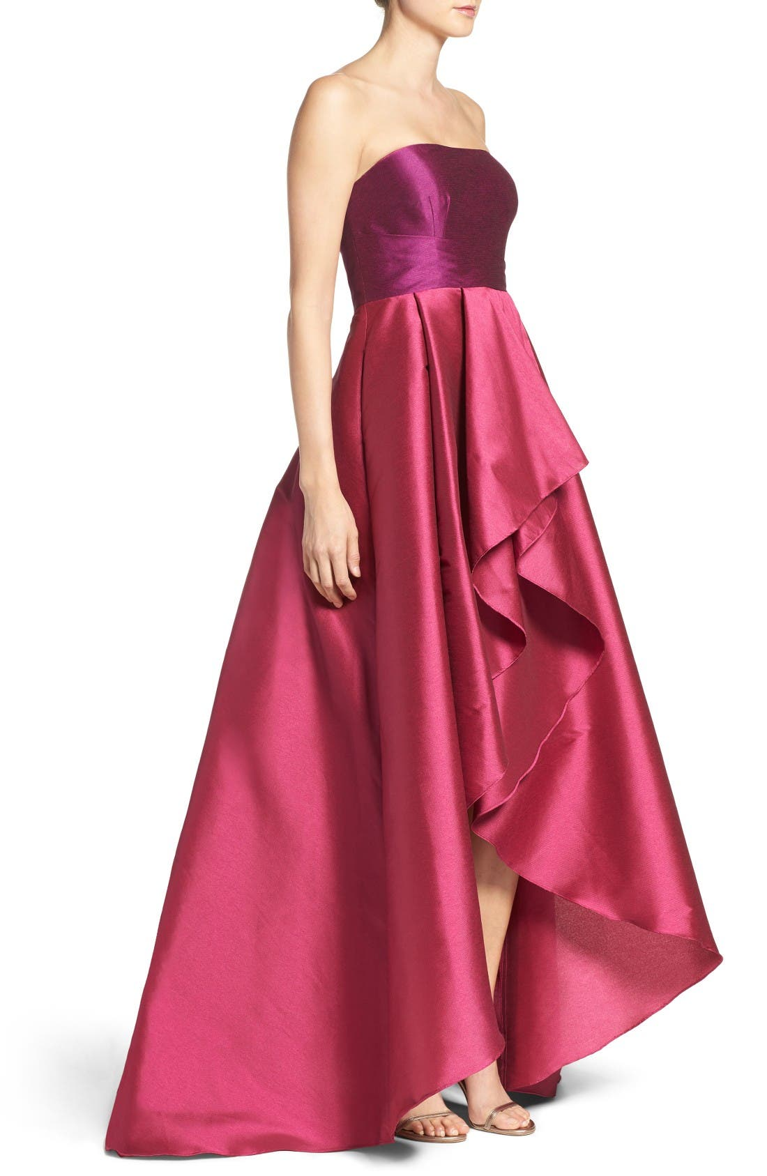 Alternate Image 3  - Adrianna Papell Colorblock Strapless Gown