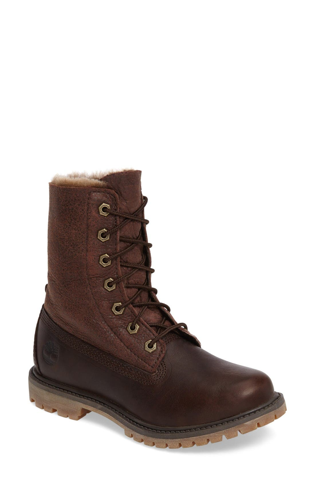 Alternate Image 4  - Timberland Authentic Water Resistant Genuine Shearling Boot (Women)