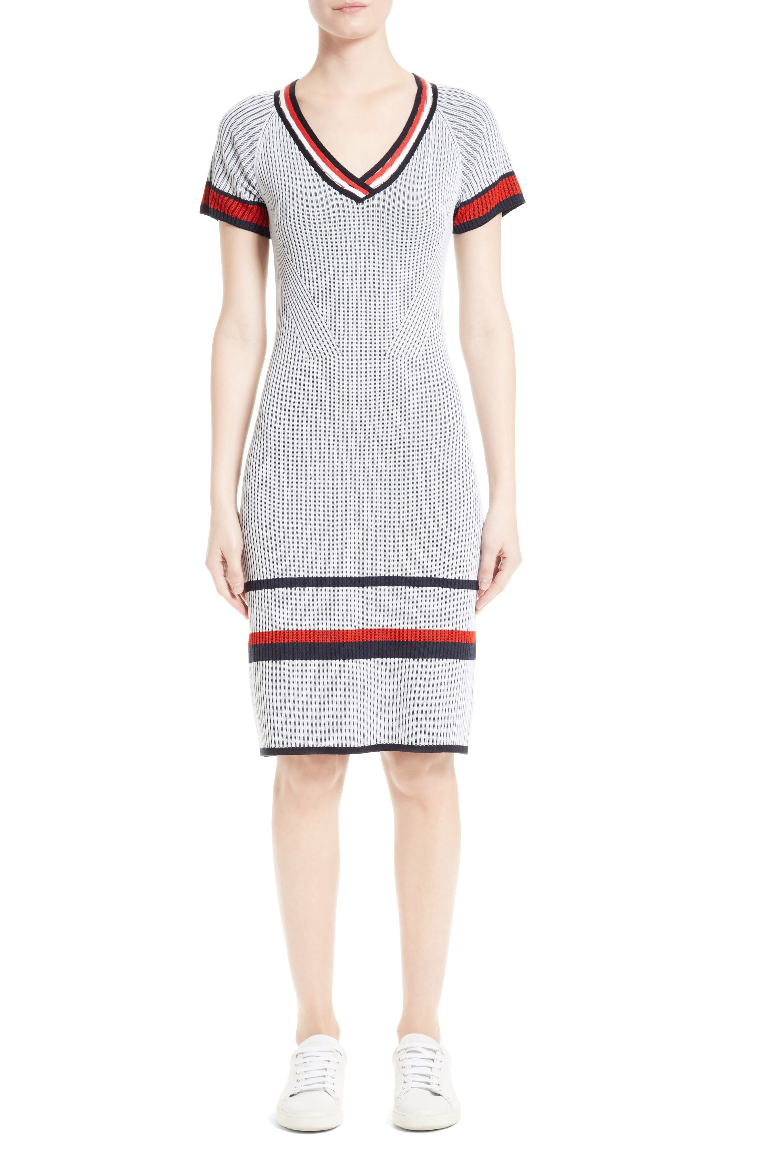 Alternate Image 1 Selected - St. John Collection Two-Tone Rib Knit Dress