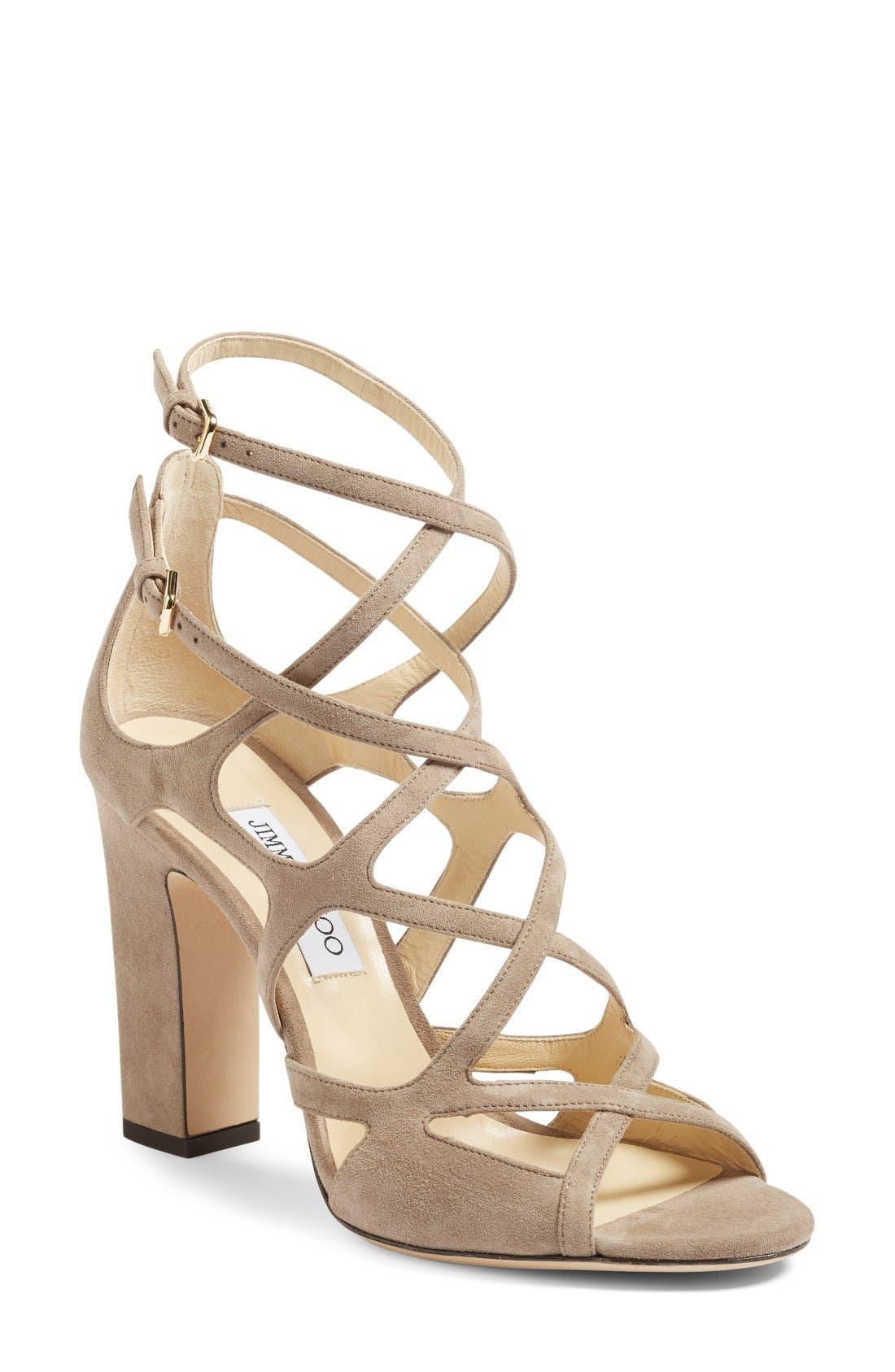 JIMMY CHOO Dillan Block Heel Sandal
