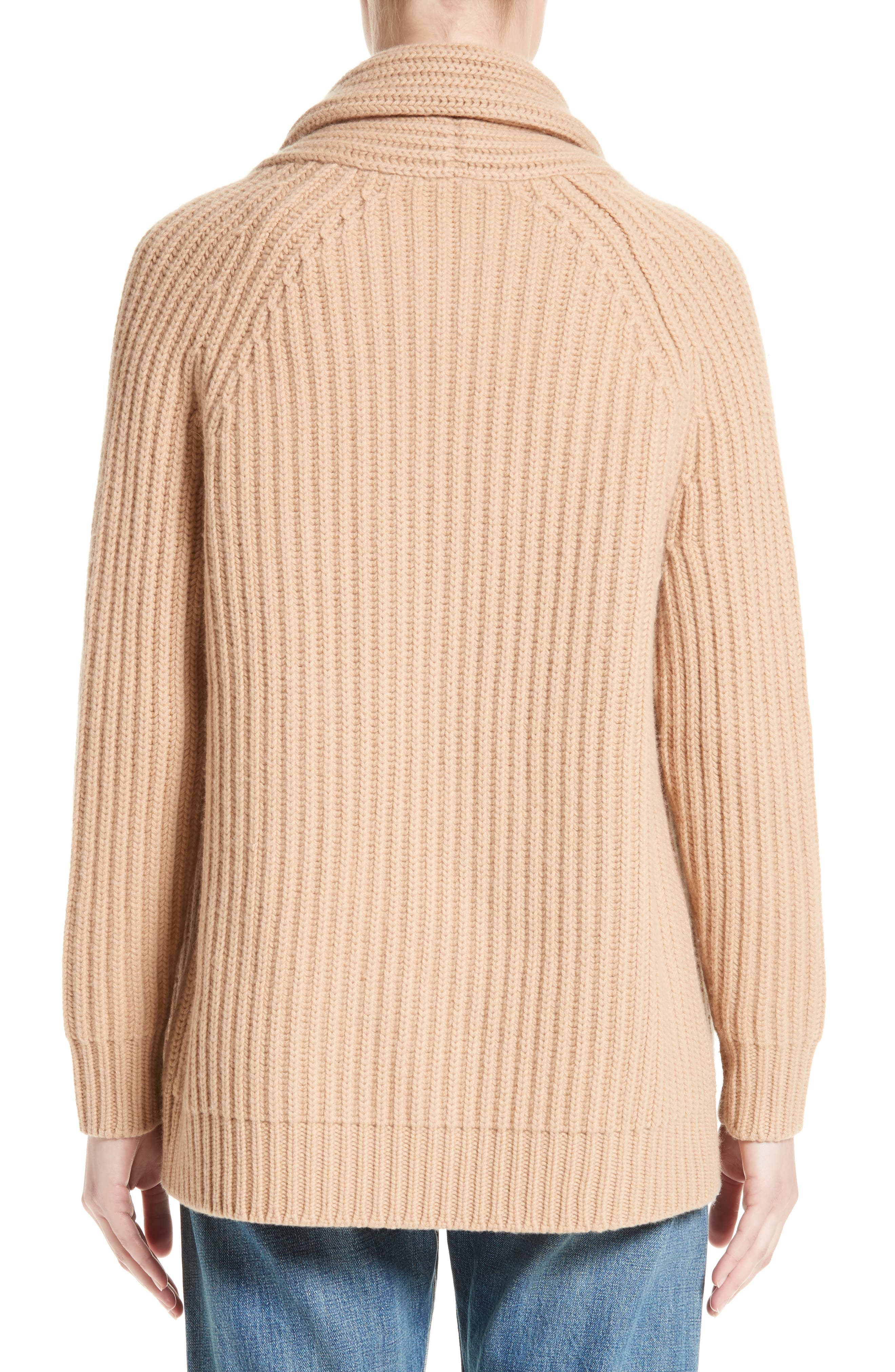 Alternate Image 2  - Vince Wool & Cashmere Knit Car Coat