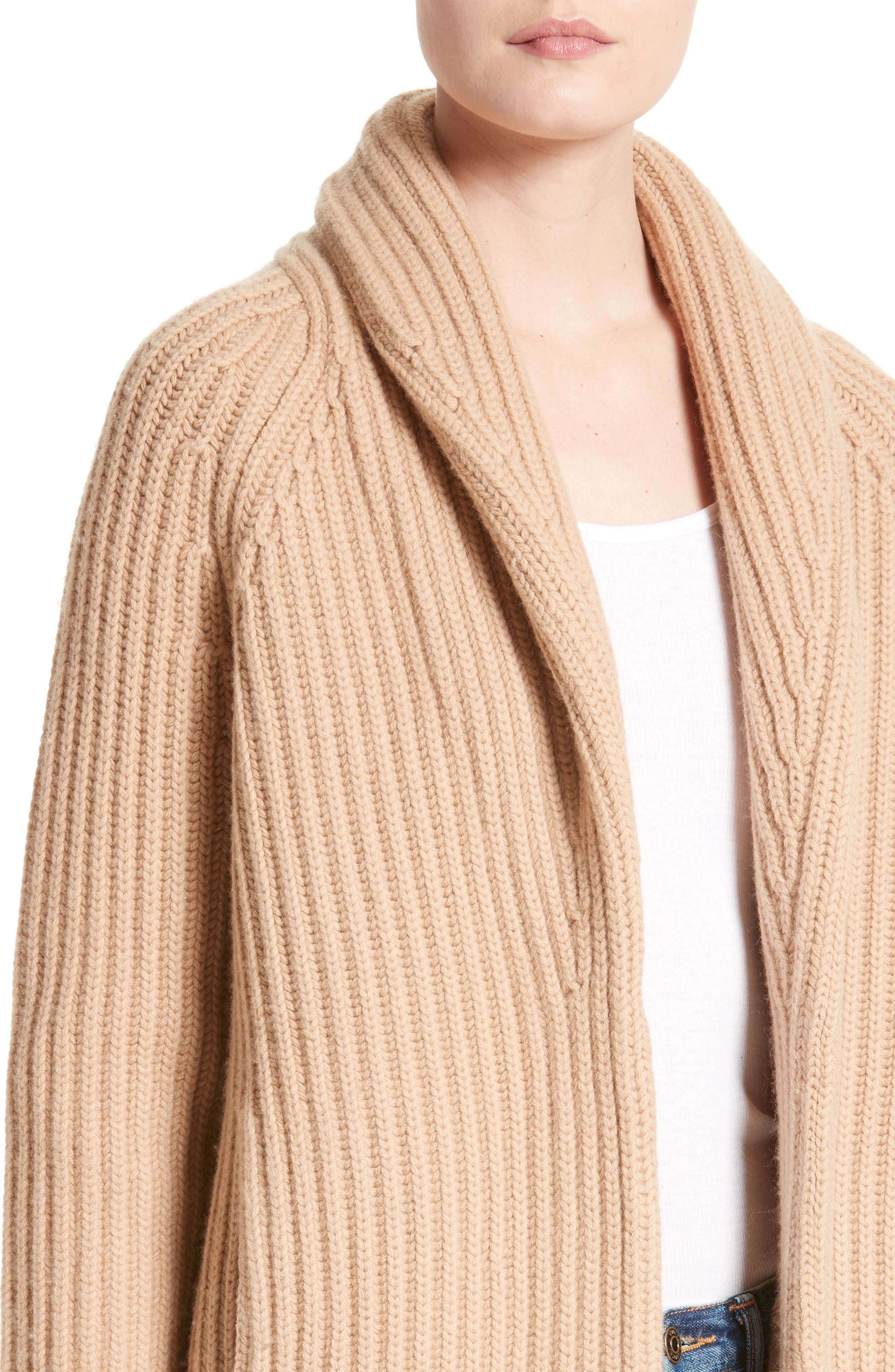 Alternate Image 4  - Vince Wool & Cashmere Knit Car Coat