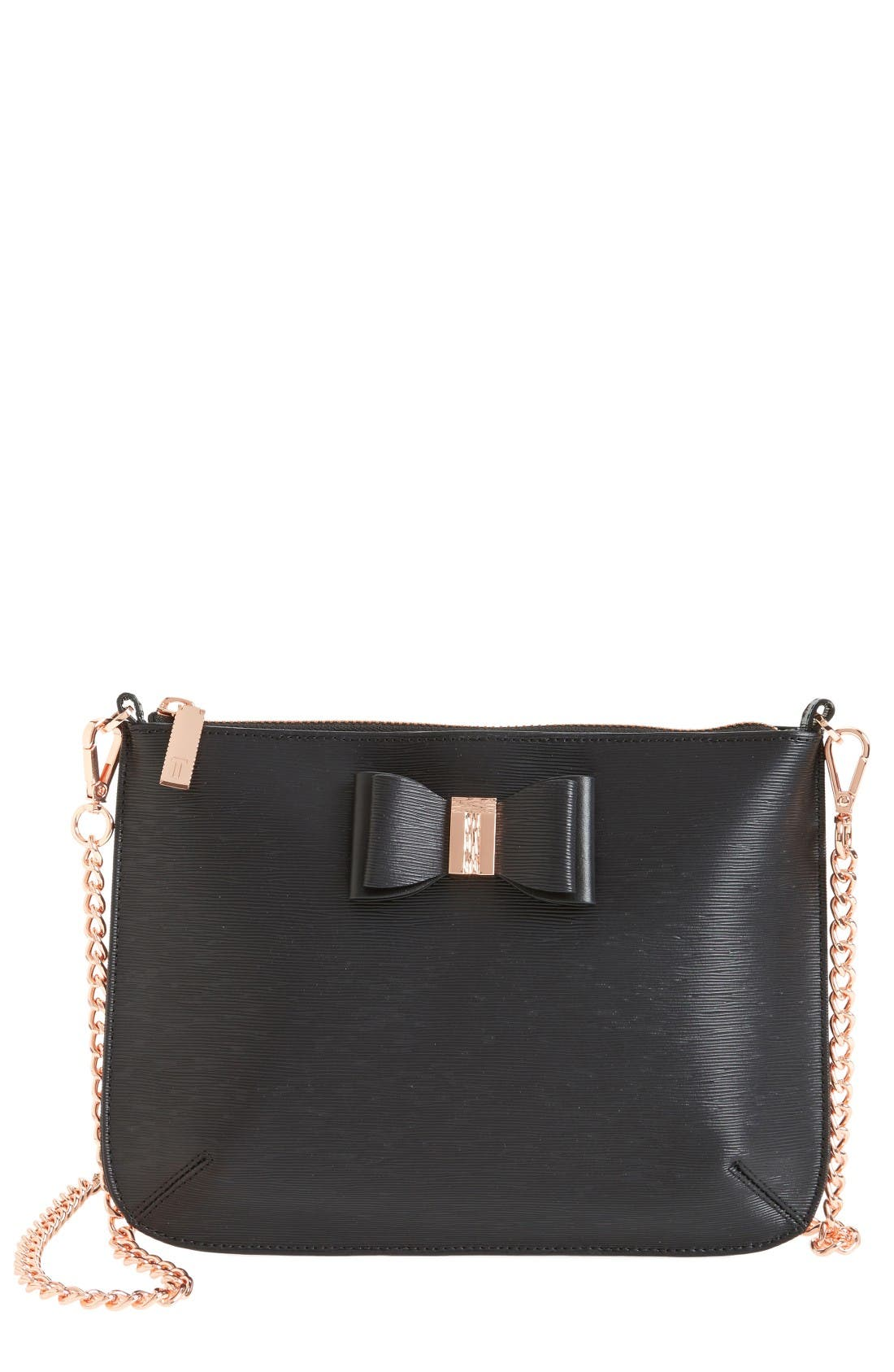Main Image - Ted Baker London Caisey Small Leather Crossbody Bag
