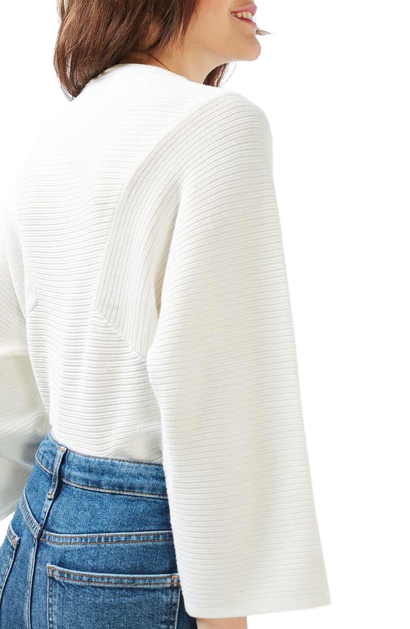Alternate Image 3  - Topshop Diamond Kimono Sleeve Sweater