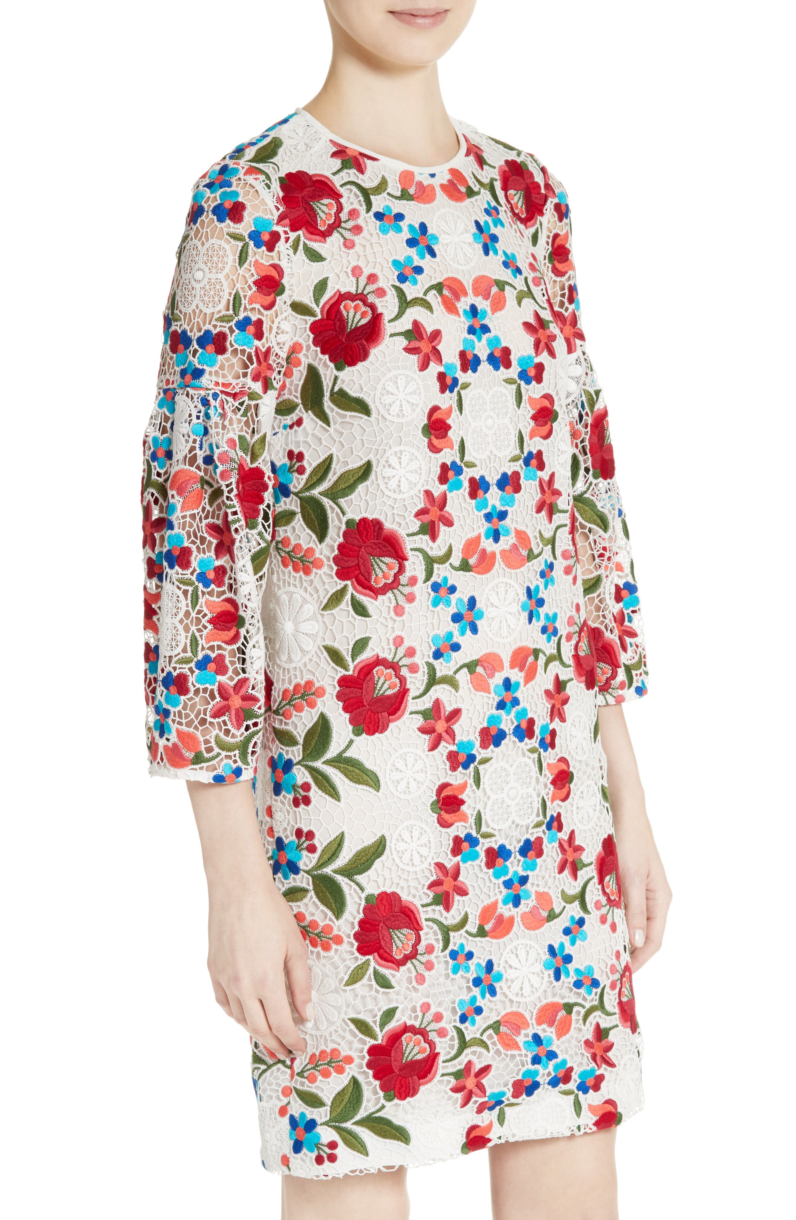 Alternate Image 6  - Burberry Carrie Embroidered Lace Dress