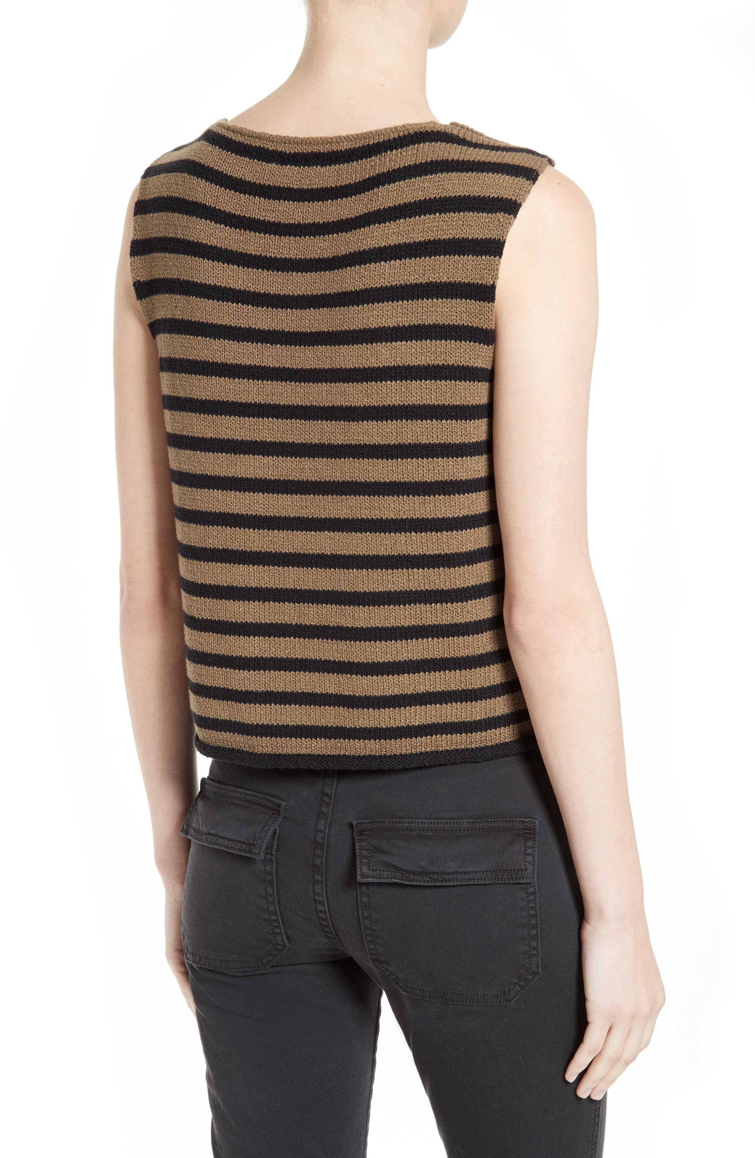 Alternate Image 2  - Vince Stripe Knit Tank