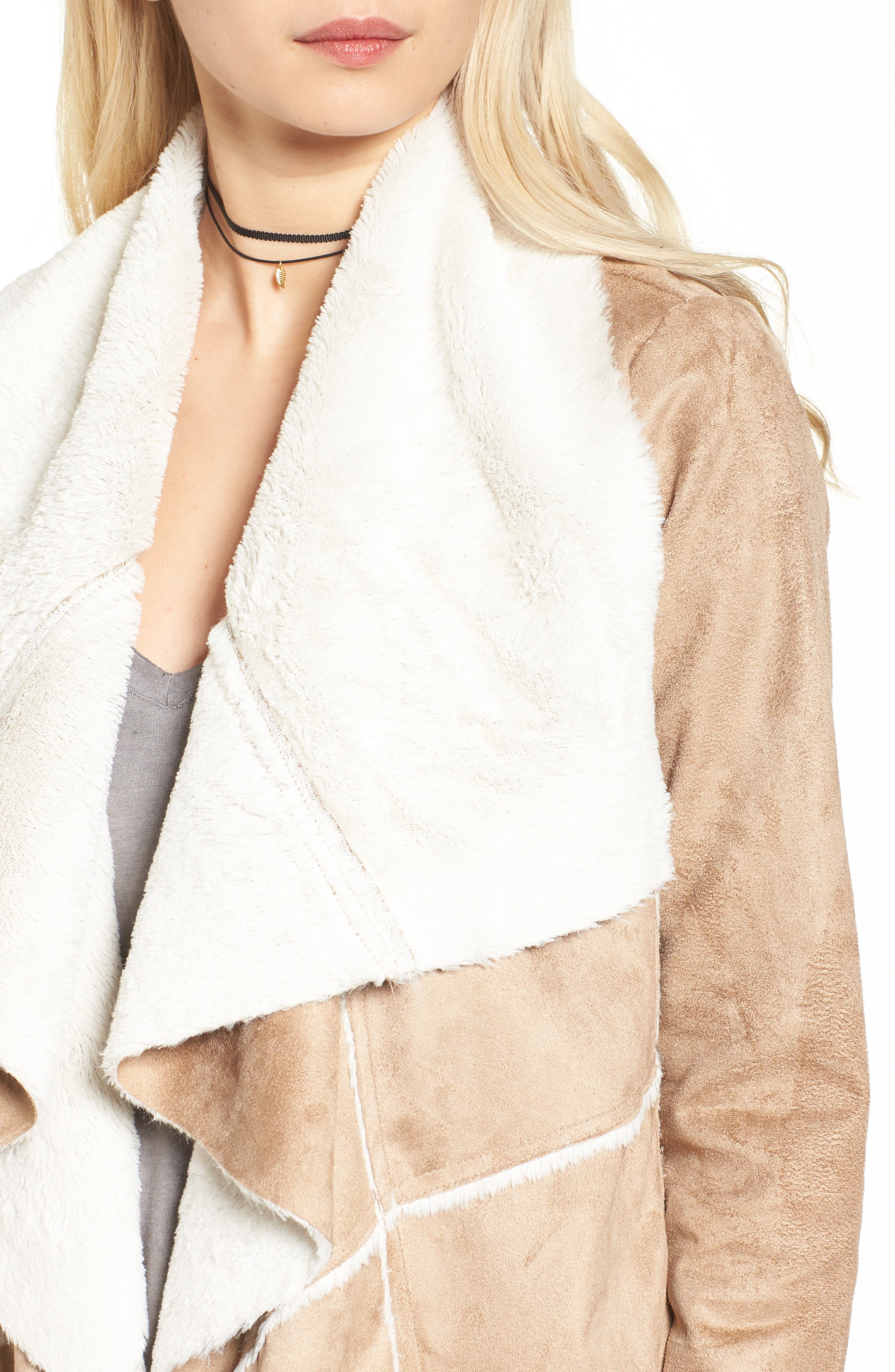 Alternate Image 4  - Soprano Faux Shearling Moto Jacket