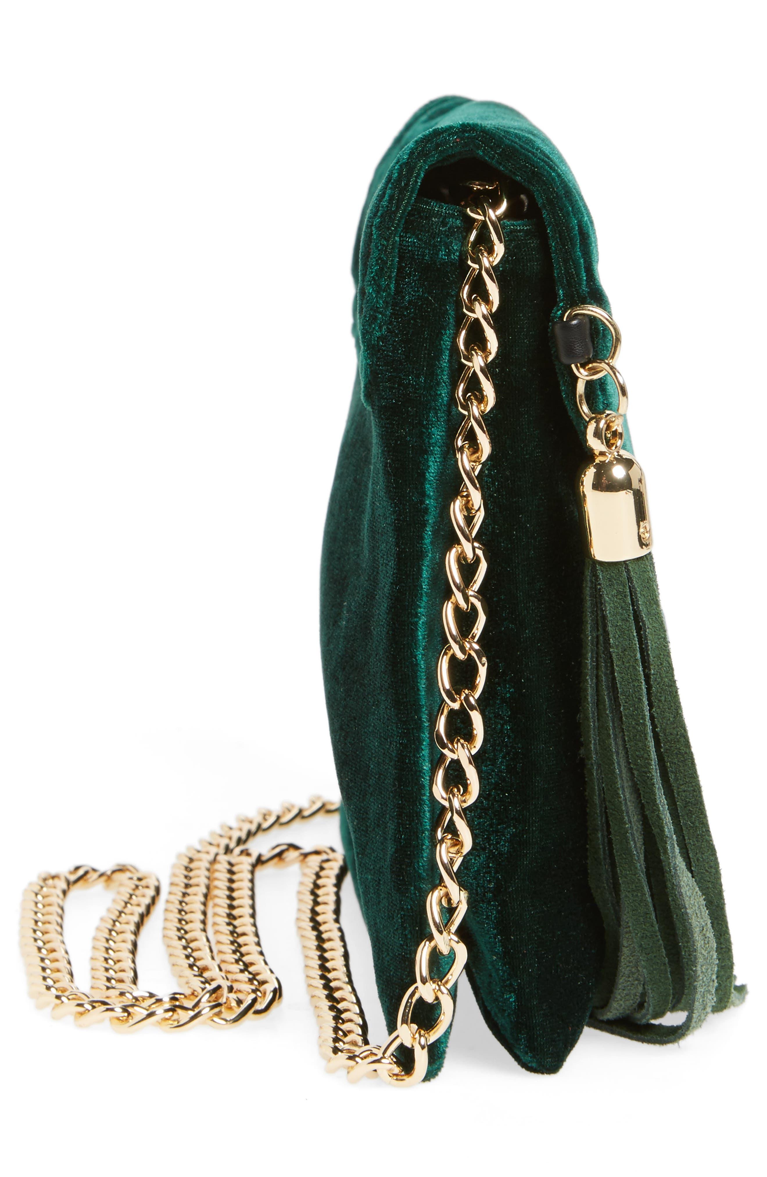 Alternate Image 5  - BP. Tassel Velvet Crossbody Bag