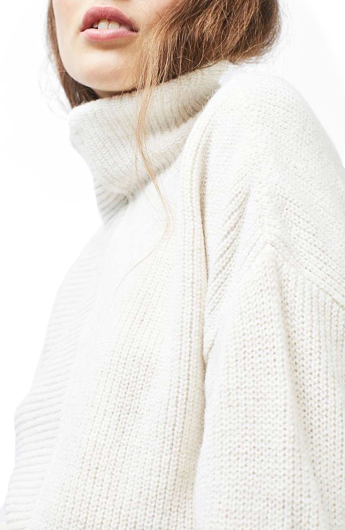 Alternate Image 6  - Topshop Mixed Knit Sweater
