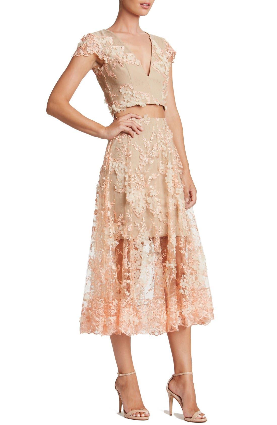 Alternate Image 4  - Dress the Population Juliana Two-Piece Dress