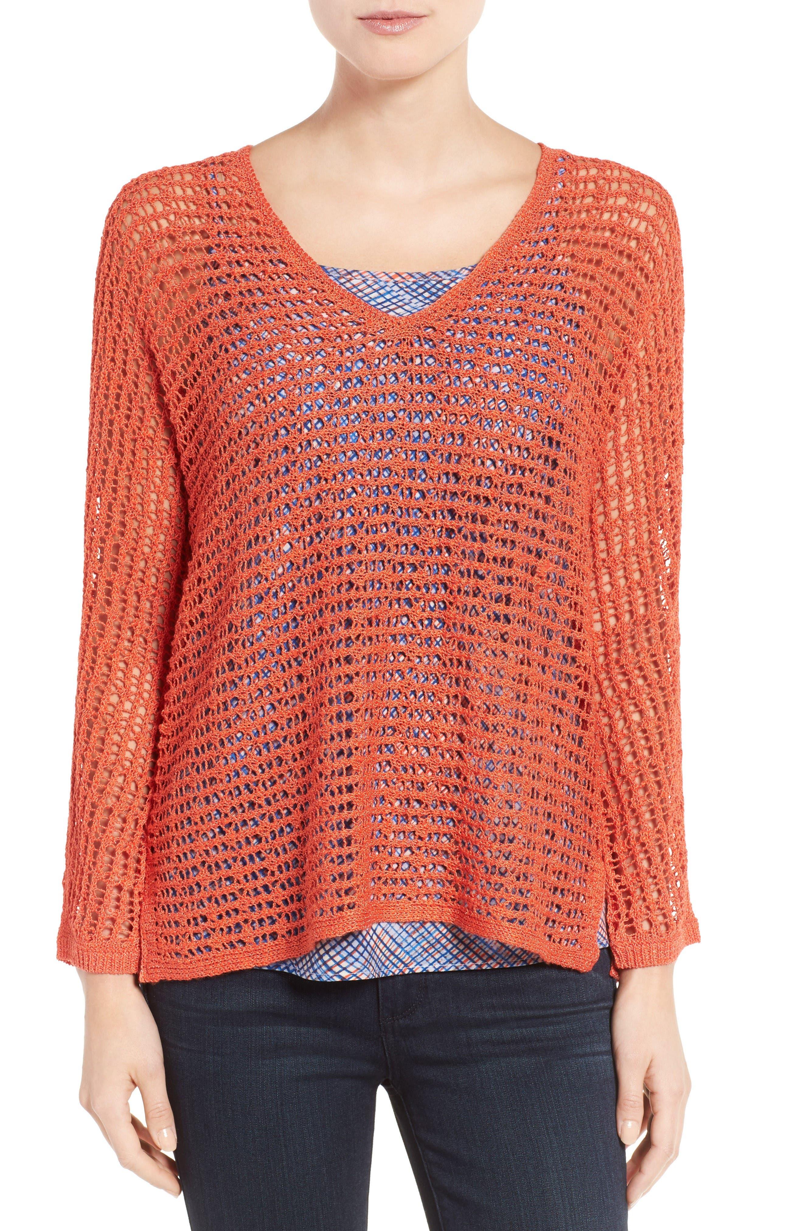 NIC+ZOE Sun Catcher Crochet Top (Regular & Petite)