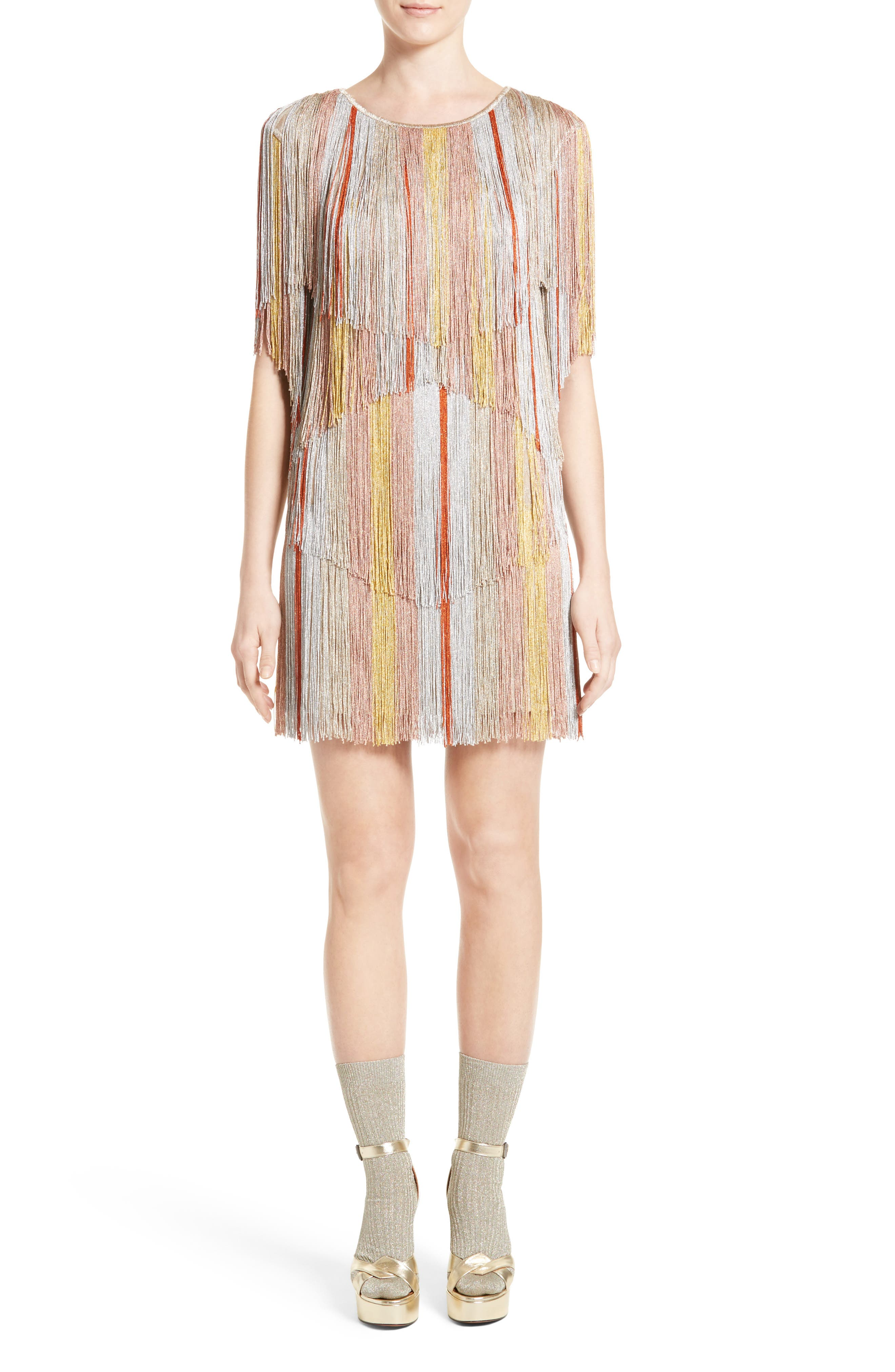 Missoni Metallic Fringe Minidress