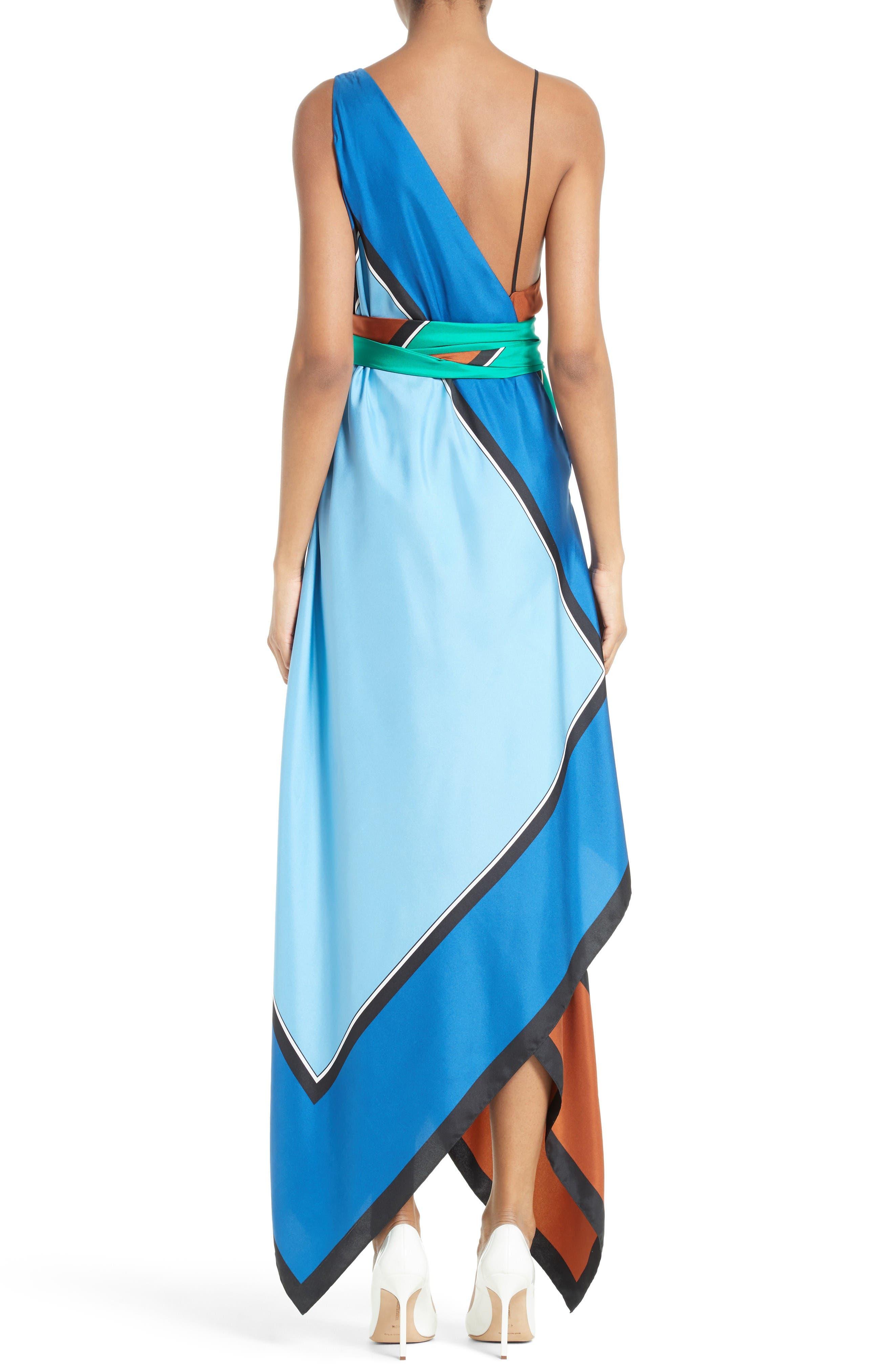 Alternate Image 2  - Diane von Furstenberg Scarf Hem Silk Maxi Dress