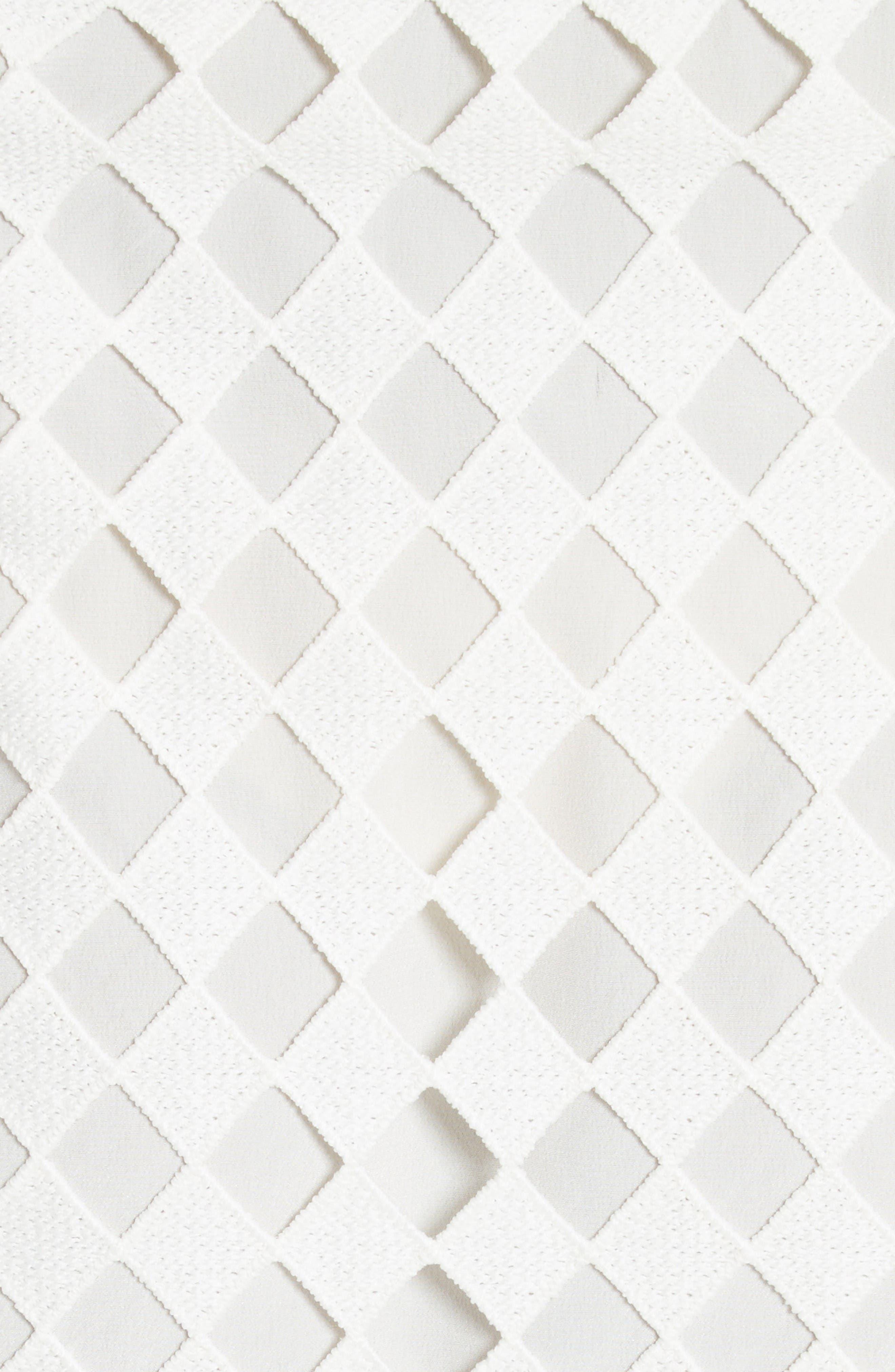 Alternate Image 5  - Diane von Furstenberg Asymmetrical Ruffle Mixed Media Wrap Dress