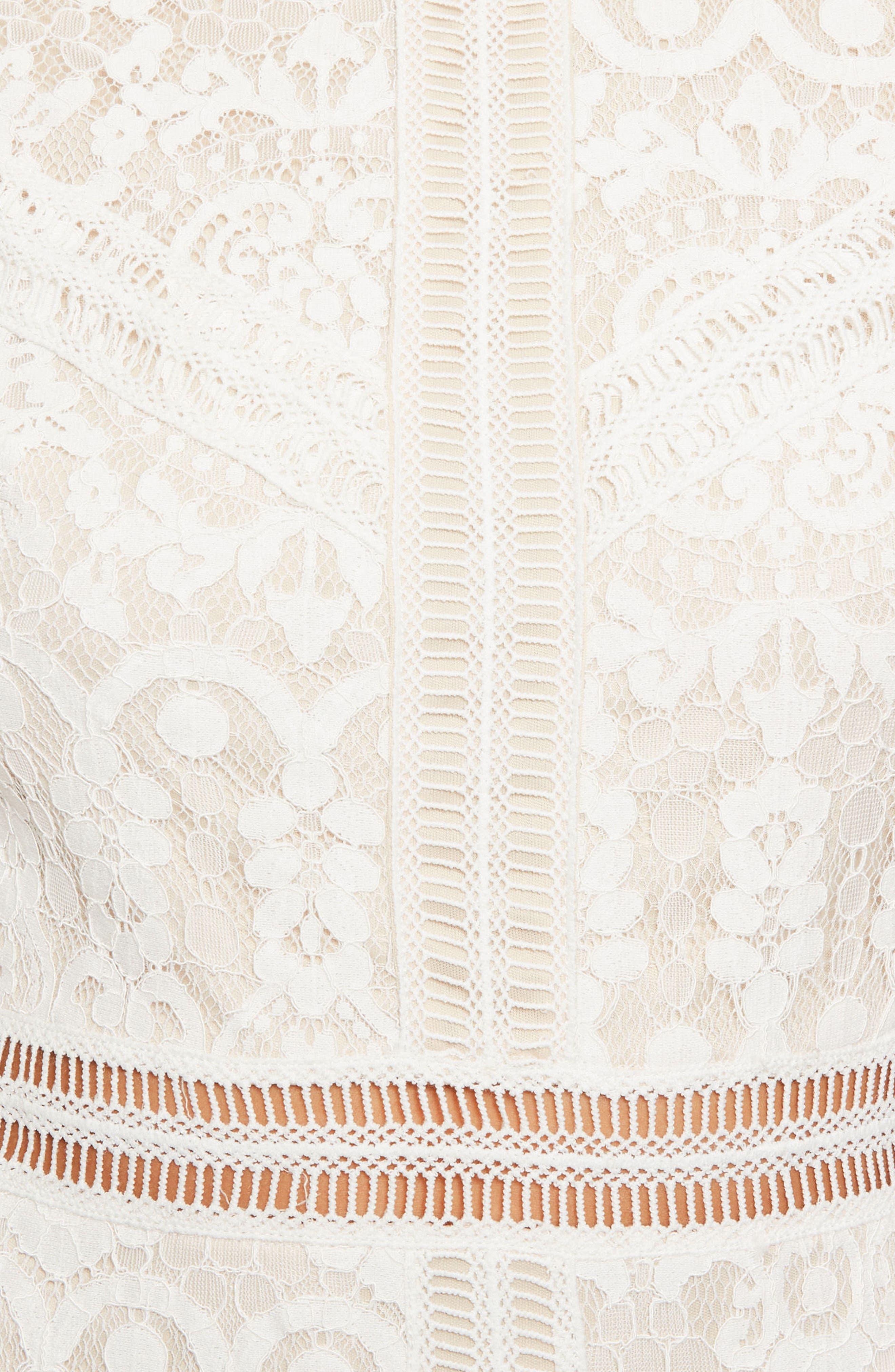 Alternate Image 4  - Missguided Ladder Stitch Lace Dress