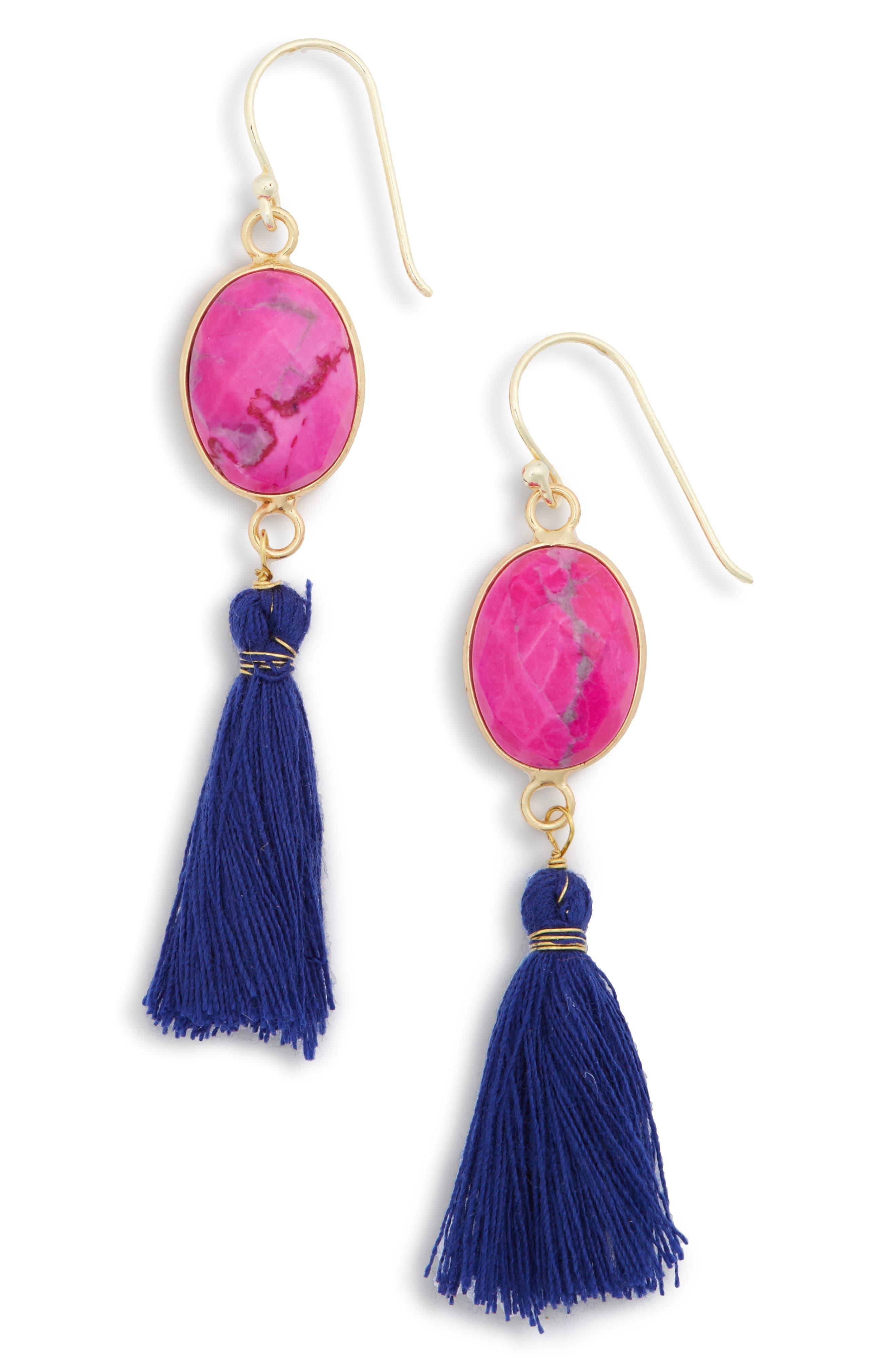 Main Image - Panacea Stone Tassel Earrings