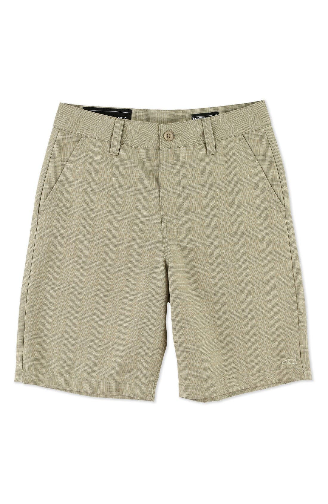 O'Neill Delta Plaid Chino Shorts (Little Boys)