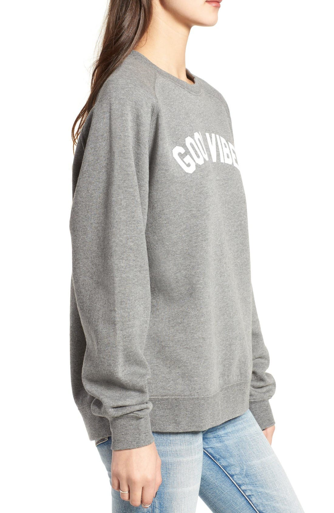 Alternate Image 3  - Sub_Urban Riot Good Vibes Willow Sweatshirt
