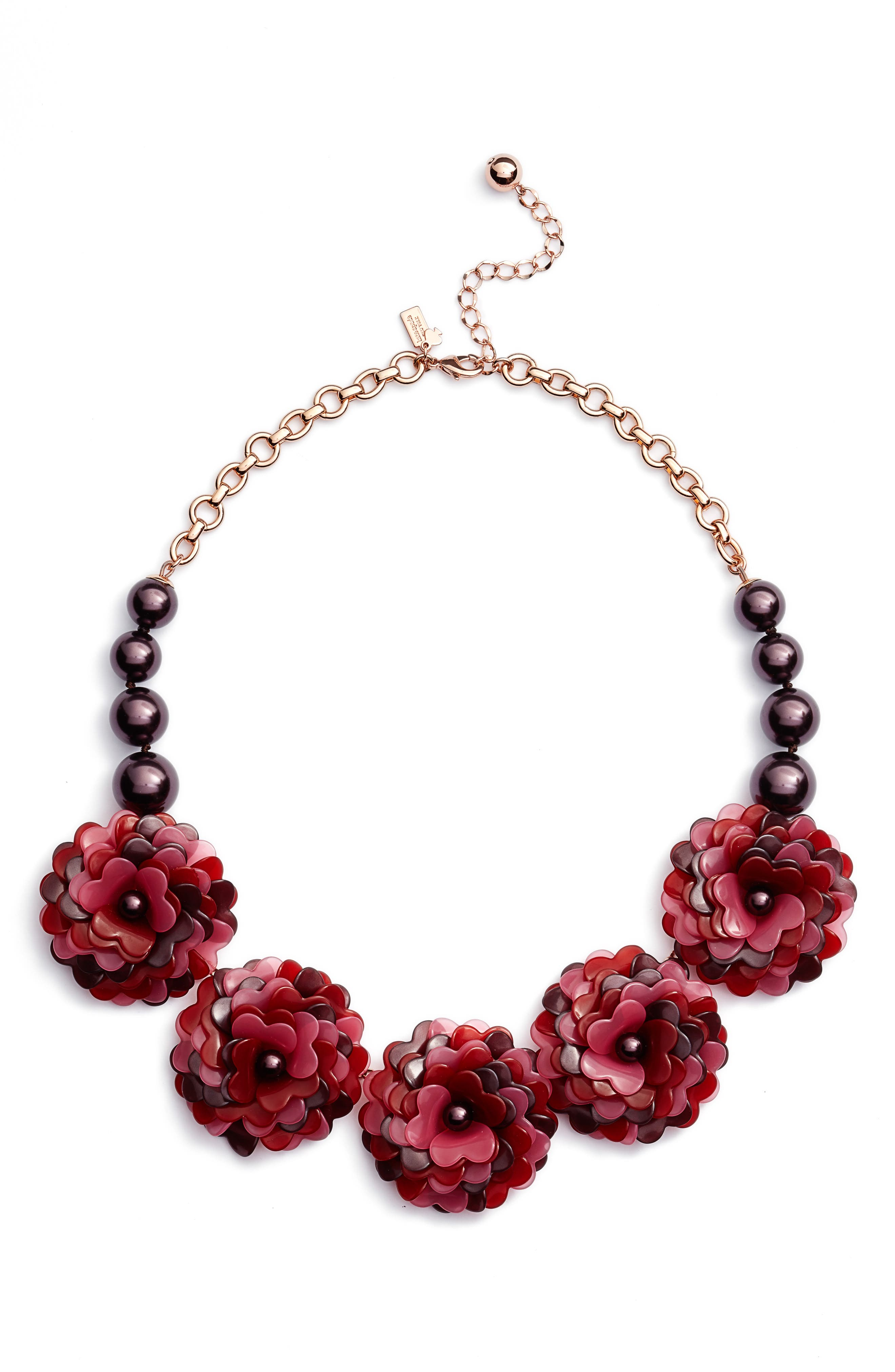 Alternate Image 1 Selected - kate spade new york rosy outlook statement necklace