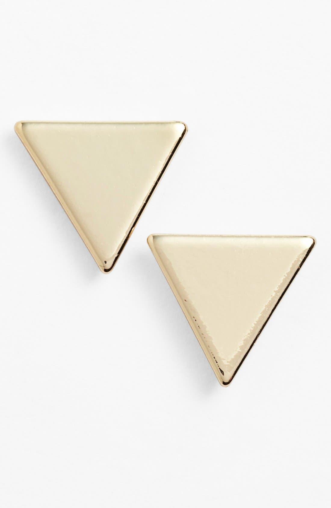 Alternate Image 1 Selected - Nordstrom Triangle Stud Earrings
