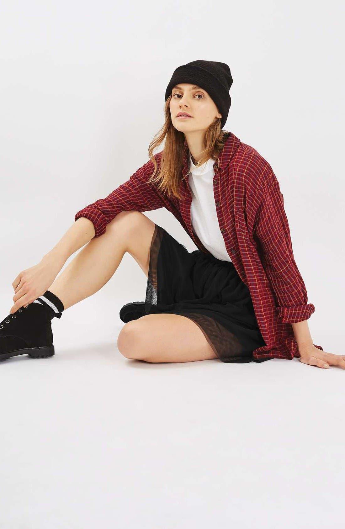 Alternate Image 2  - Topshop Tulle Miniskirt