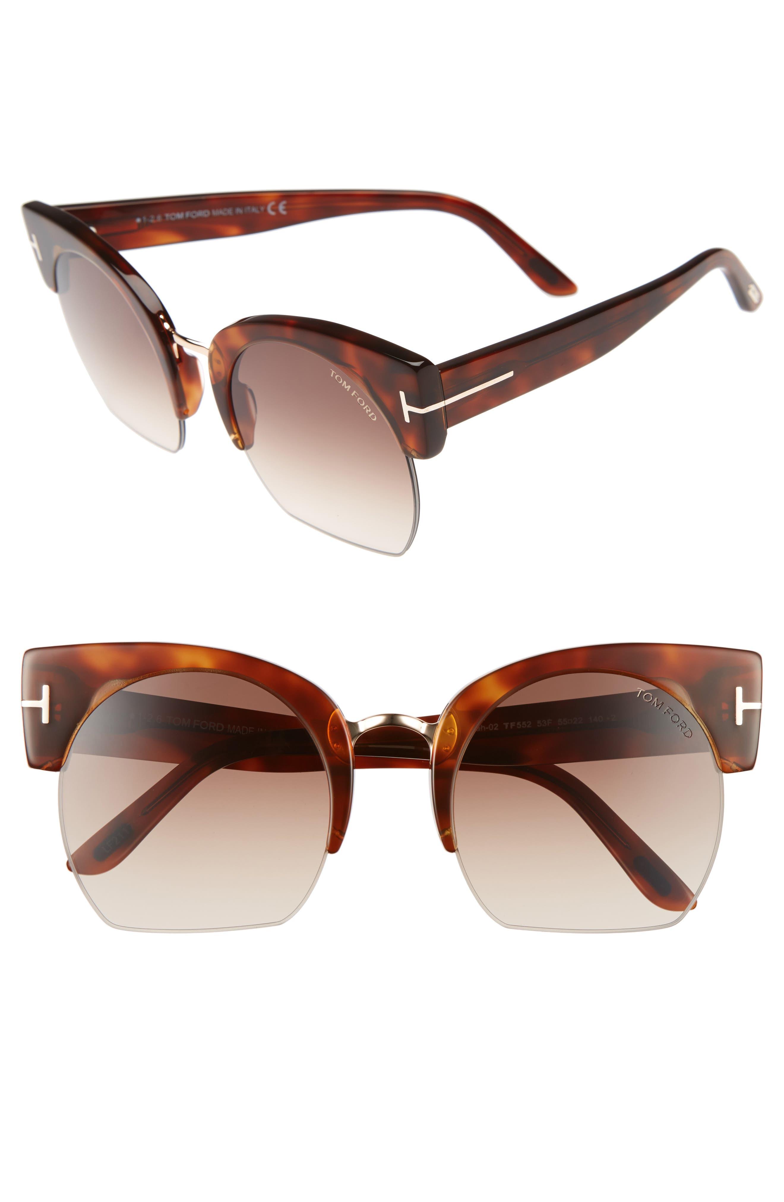 Tom Ford Savannah 55mm Cat Eye Sunglasses