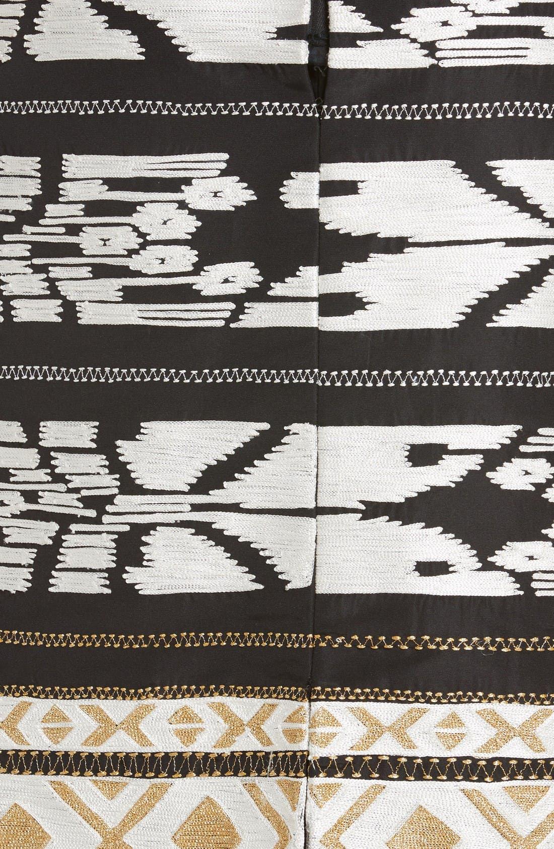 Alternate Image 3  - Oscar de la Renta Ikat Embroidered Pencil Skirt