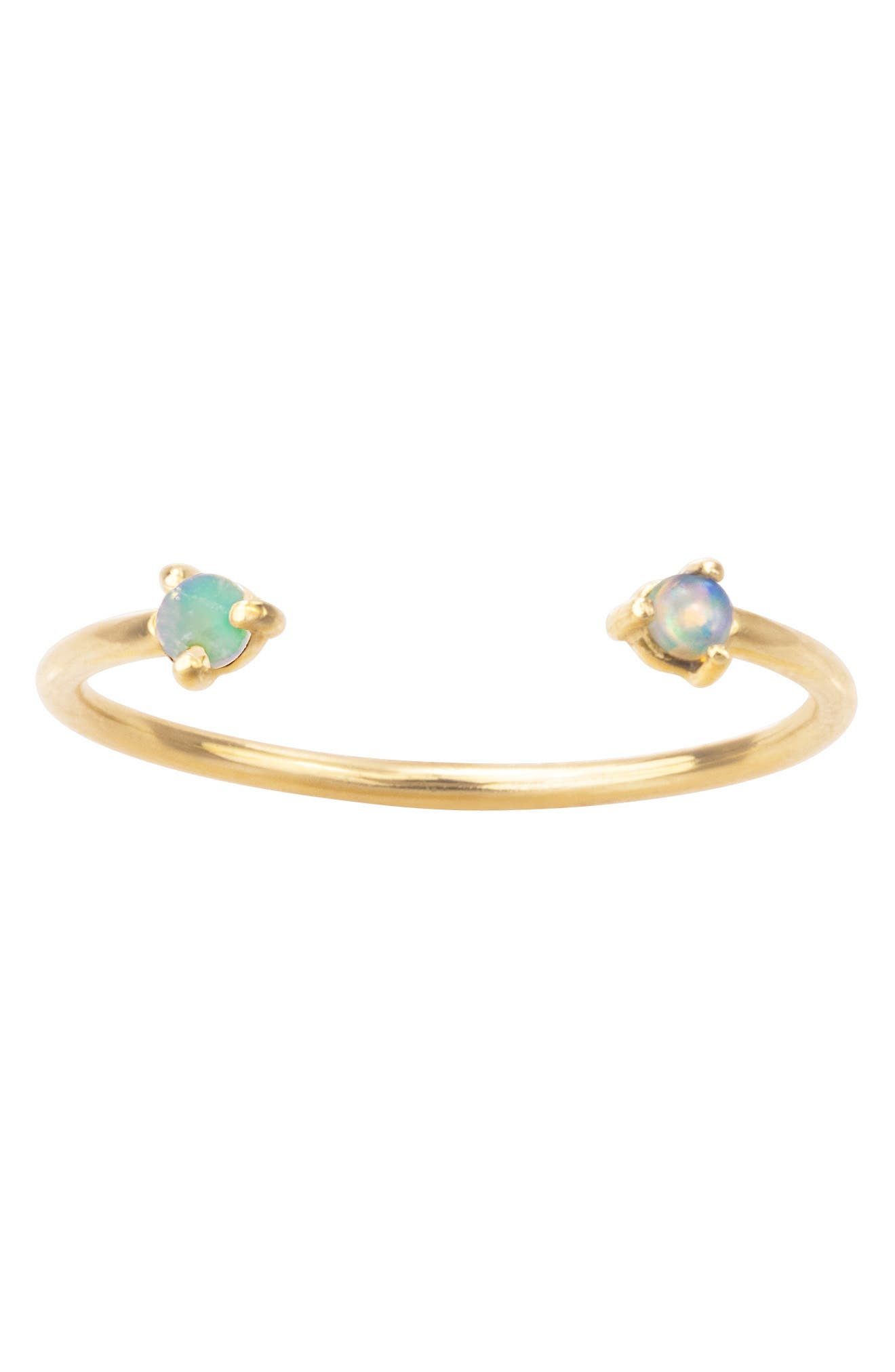 WWAKE Counting Collection Two Step Opal Ring