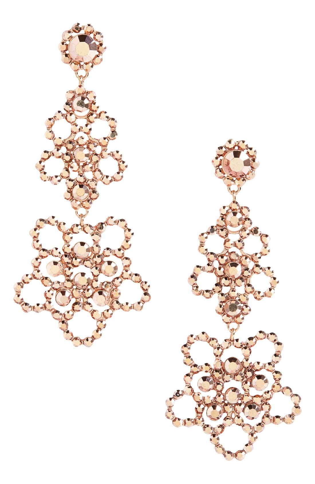 Main Image - kate spade new york crystal lace drop earrings