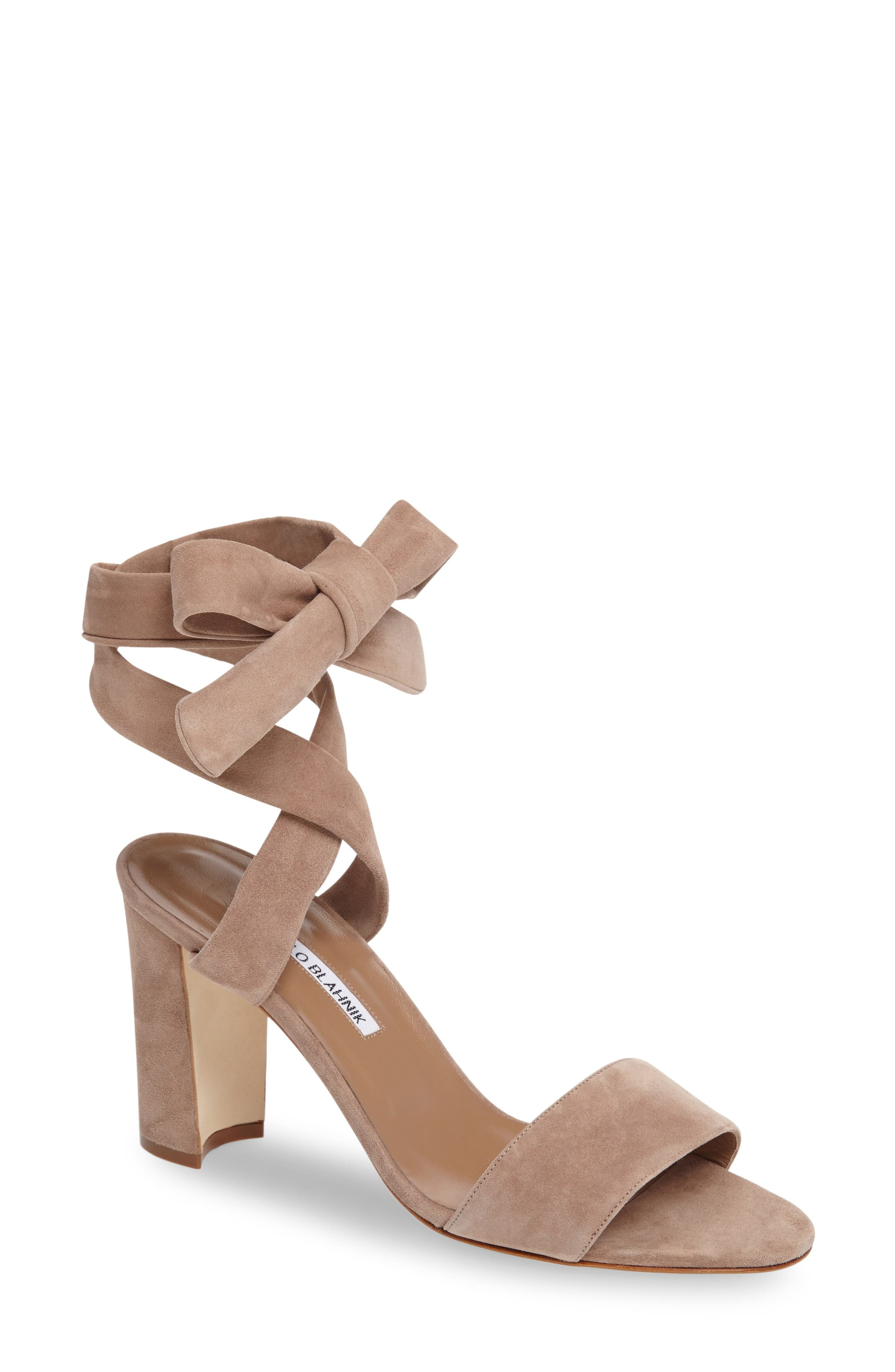 Alternate Image 1 Selected - Manolo Blahnik Tondala Wrap Sandal (Women)