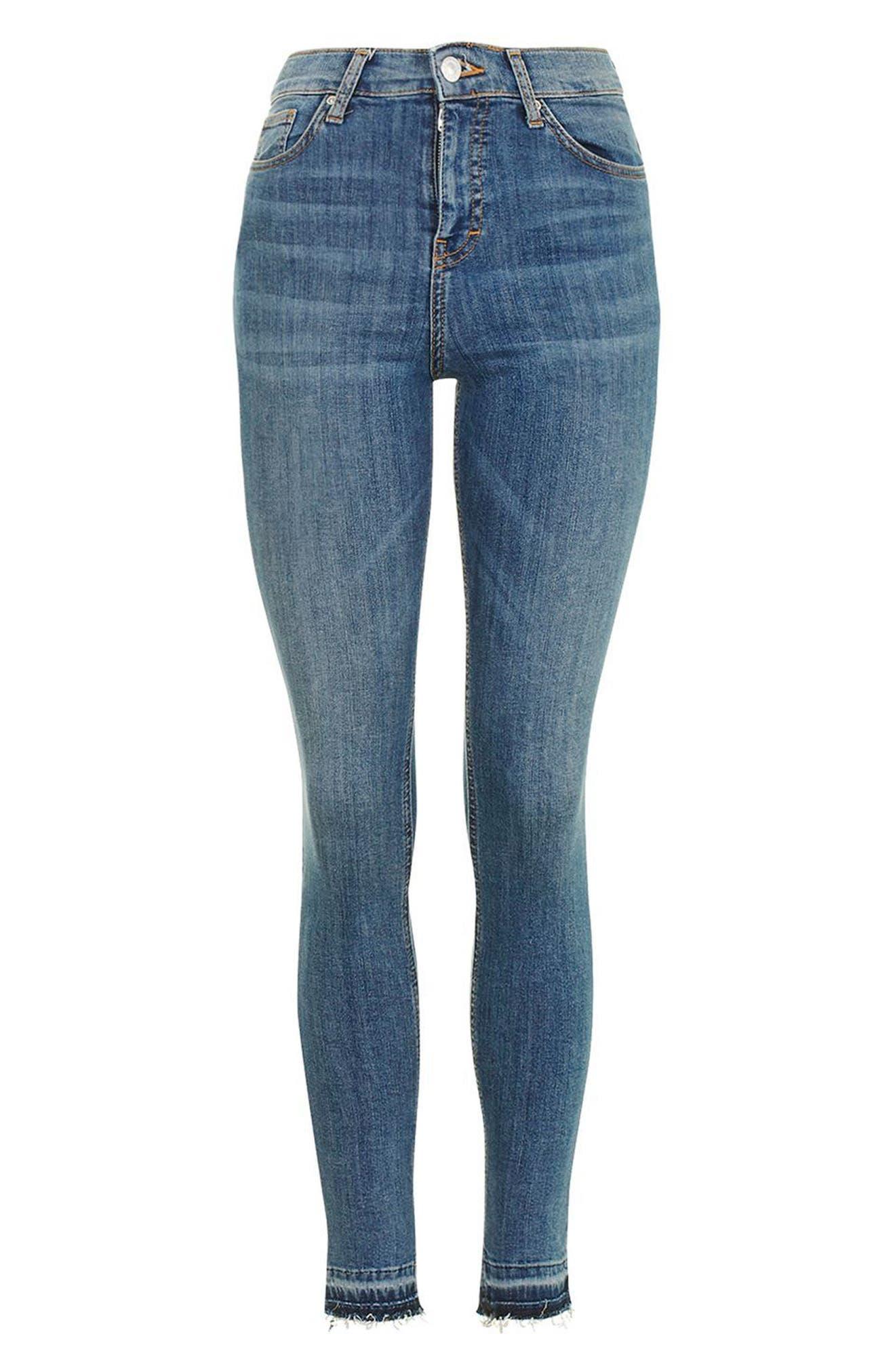 Alternate Image 4  - Topshop Jamie High Rise Let Down Hem Jeans (Petite)