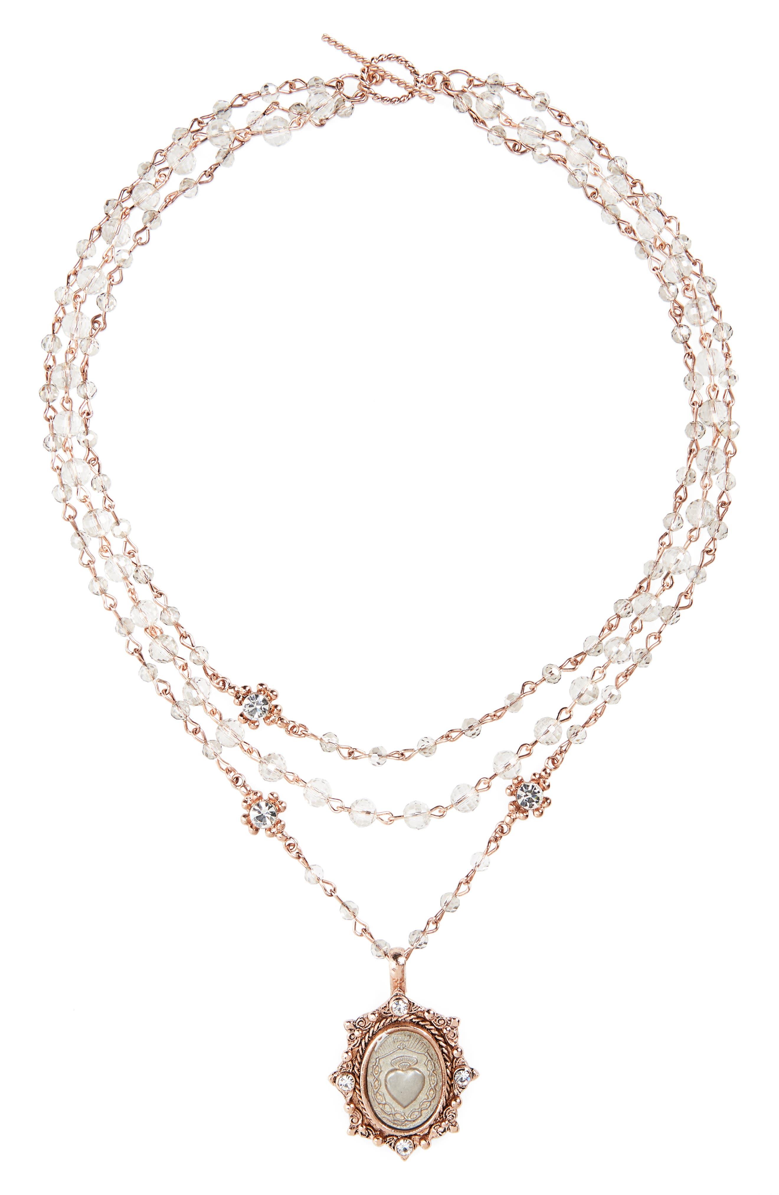 Virgins Saints & Angels Sacred Heart Magdalena Multistrand Necklace