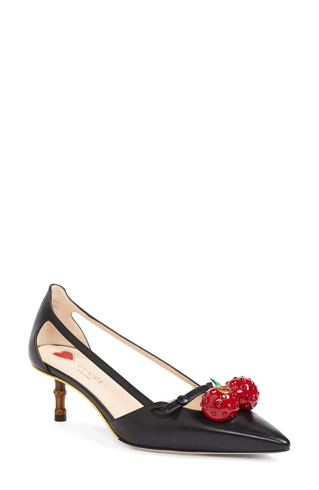 Alternate Image 1 Selected - Gucci Unia Cherry Pump (Women)
