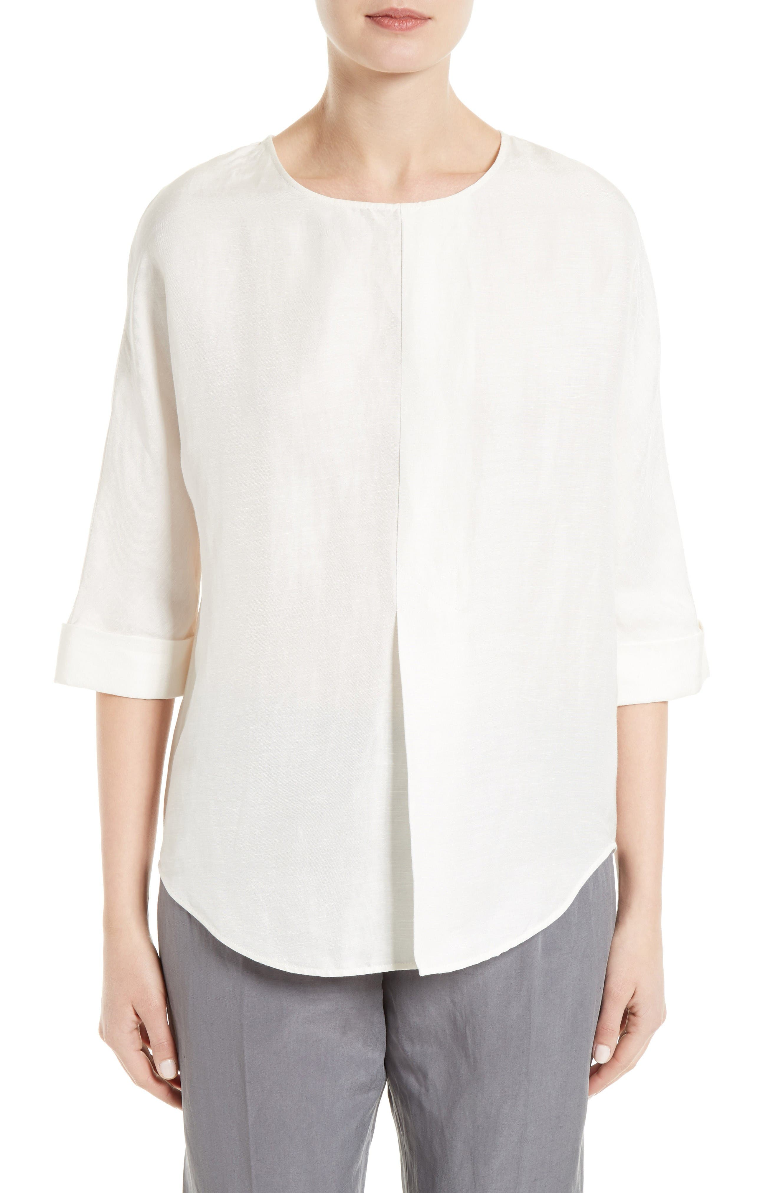 JOSEPH Caro Linen & Silk Shirt