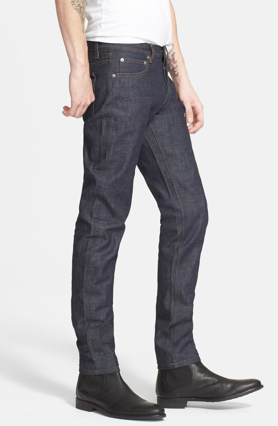 Alternate Image 3  - A.P.C. Petit Standard Slim Fit Selvedge Jeans (Indigo)