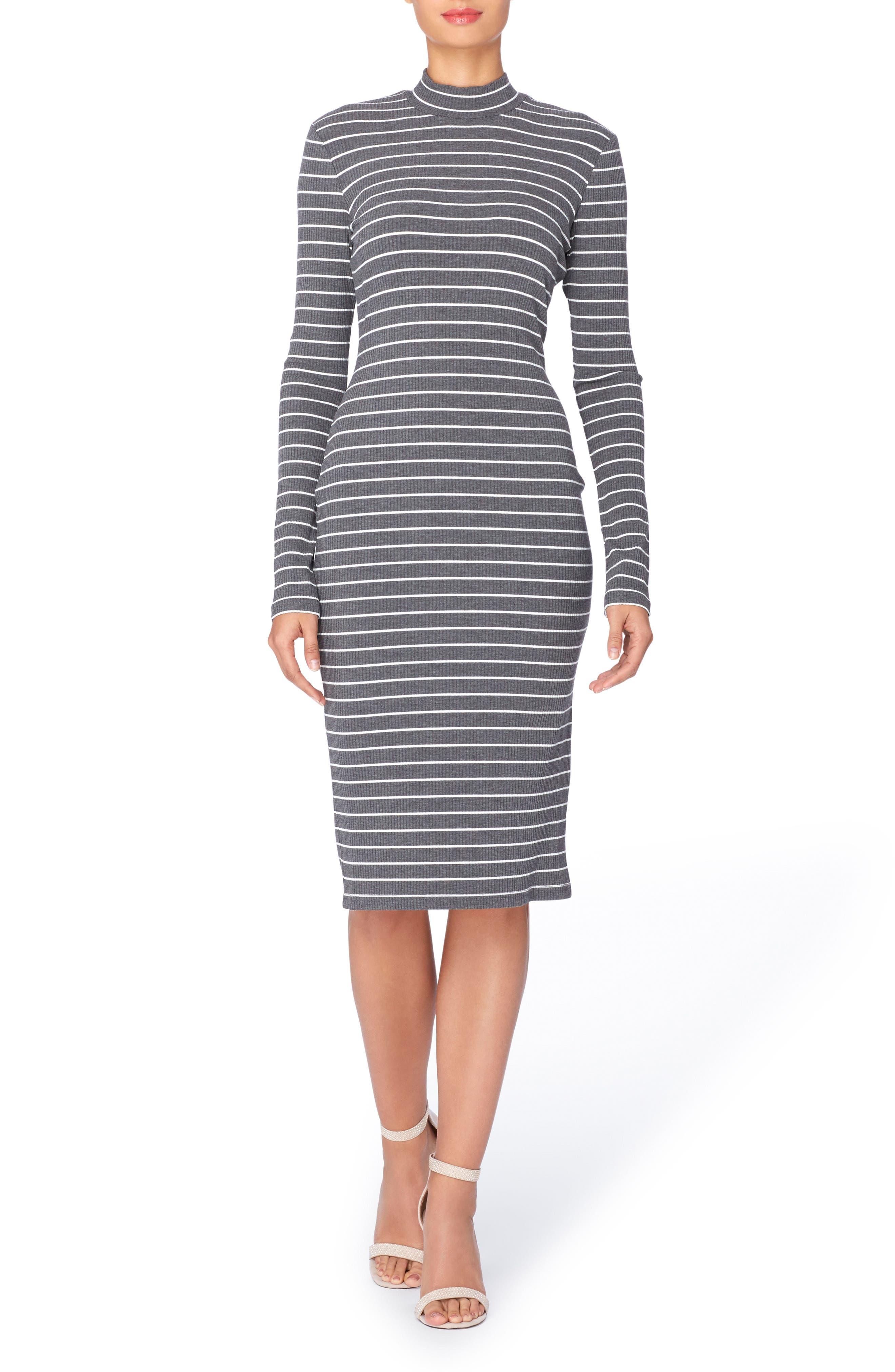 Alternate Image 1 Selected - Catherine Catherine Malandrino Kristiana Stripe Knit Midi Dress