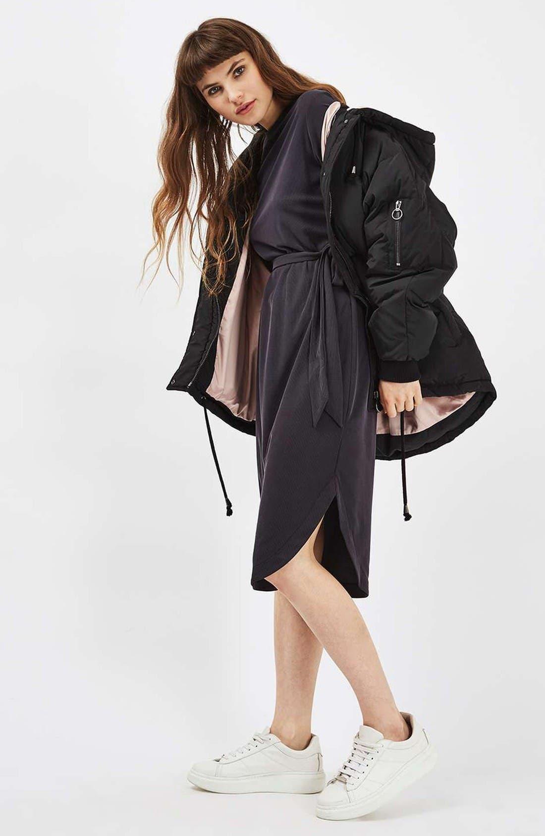 Alternate Image 2  - Topshop Ribbed Midi Dress