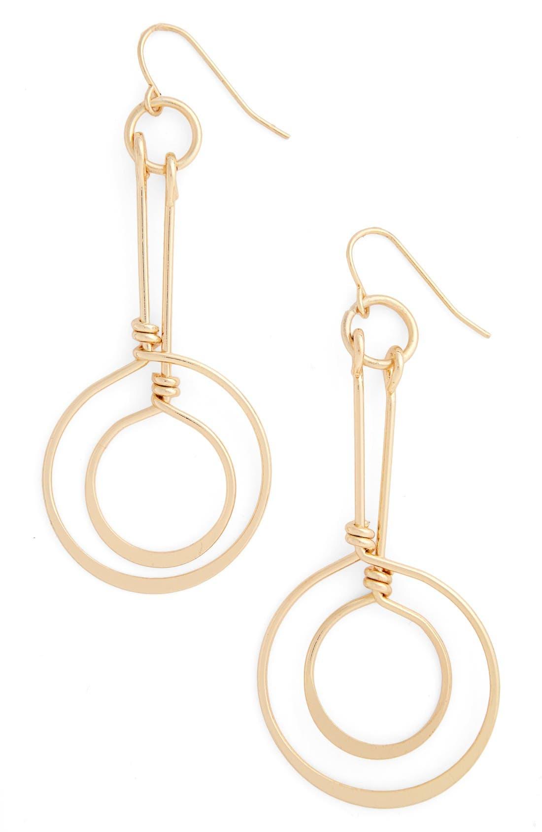 Natasha Couture Double Circle Earrings