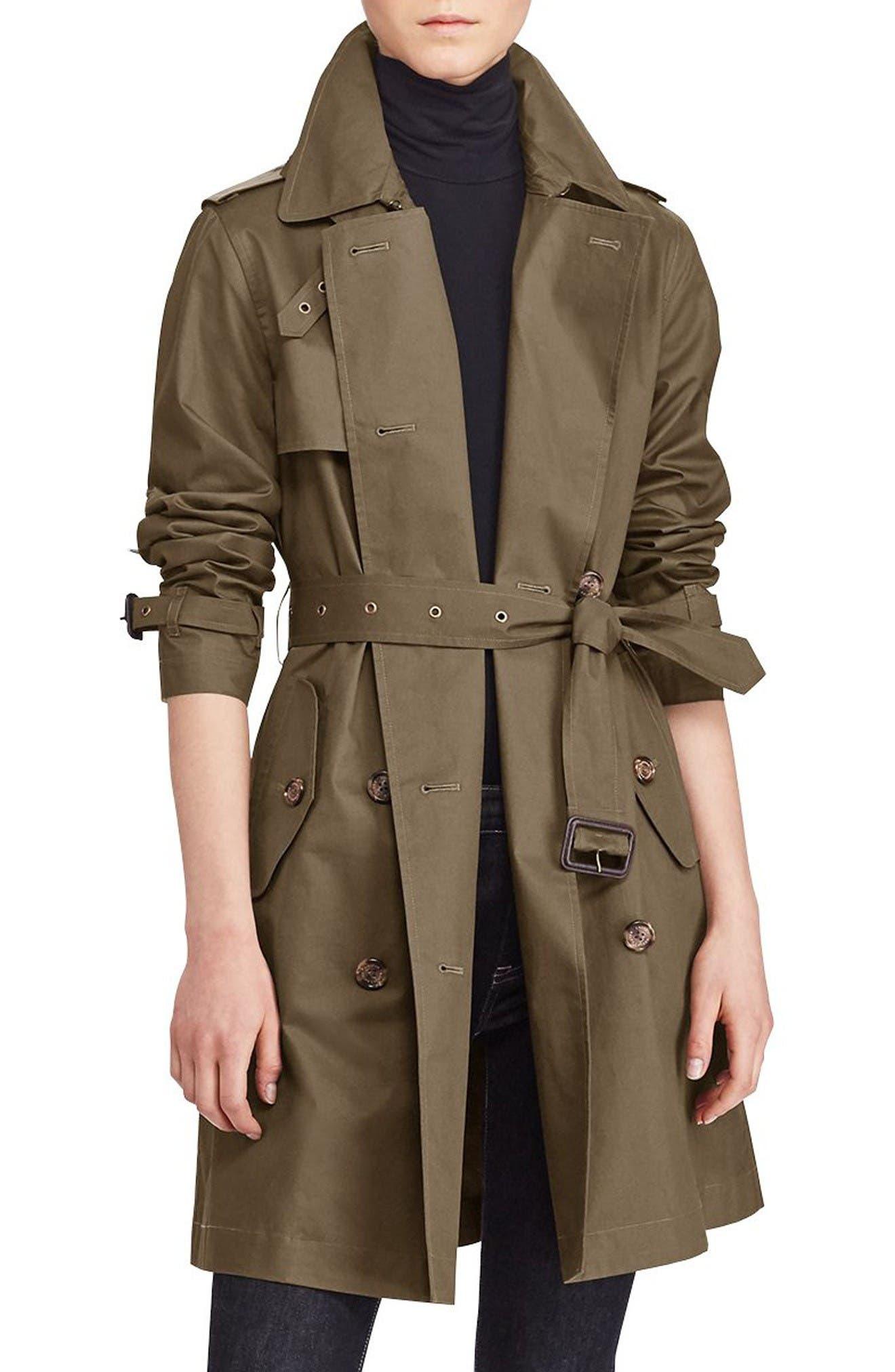 Alternate Image 1 Selected - Lauren Ralph Lauren Double-Breasted Trench Coat