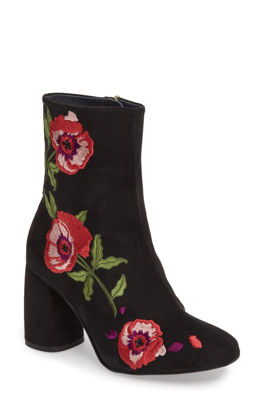 Alternate Image 1 Selected - Topshop Madam Embroidered Bootie (Women)