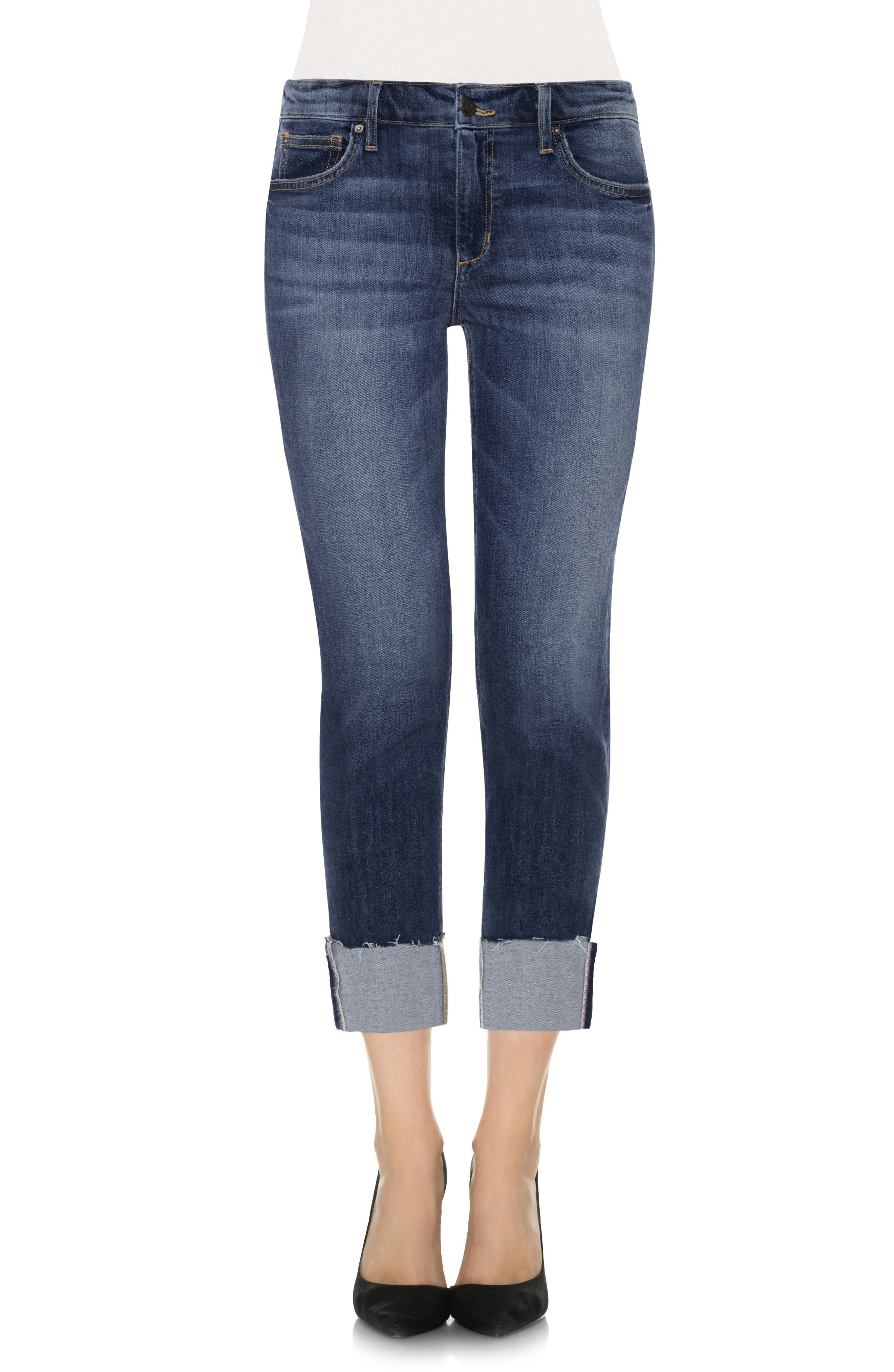 Alternate Image 1 Selected - Joes Collectors Edition - Smith Distressed Crop Boyfriend Jeans (Dionne)