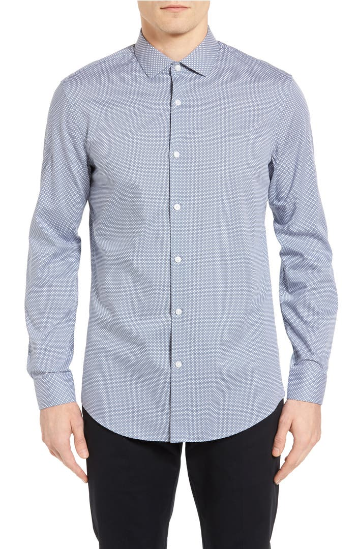 Calibrate slim fit non iron print sport shirt nordstrom for Slim fit non iron shirts