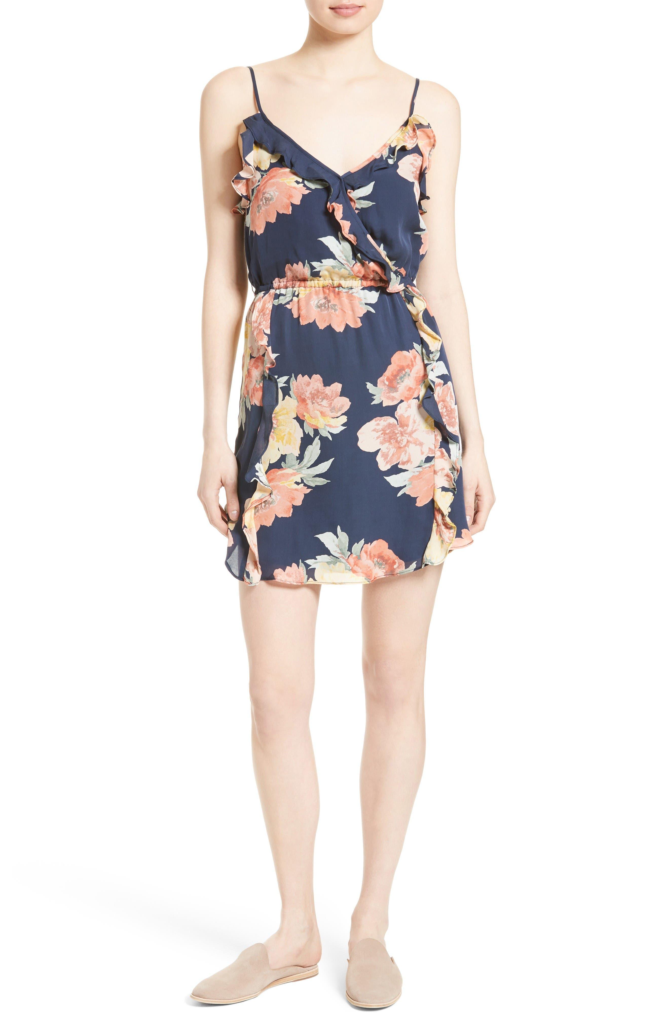 JOIE Foxglove Floral Silk Slipdress