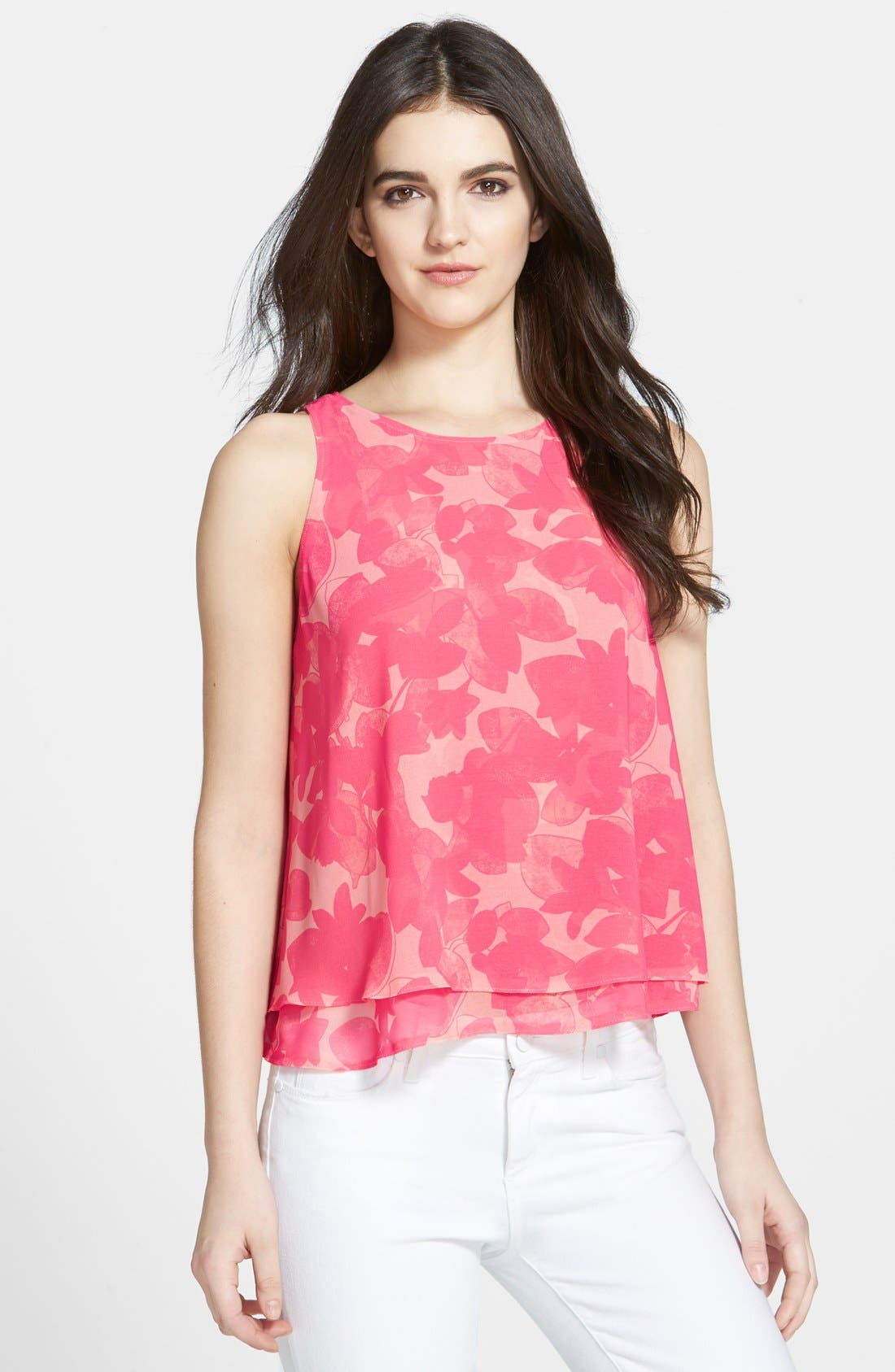 Alternate Image 1 Selected - Chelsea28 Double Layer Trapeze Top