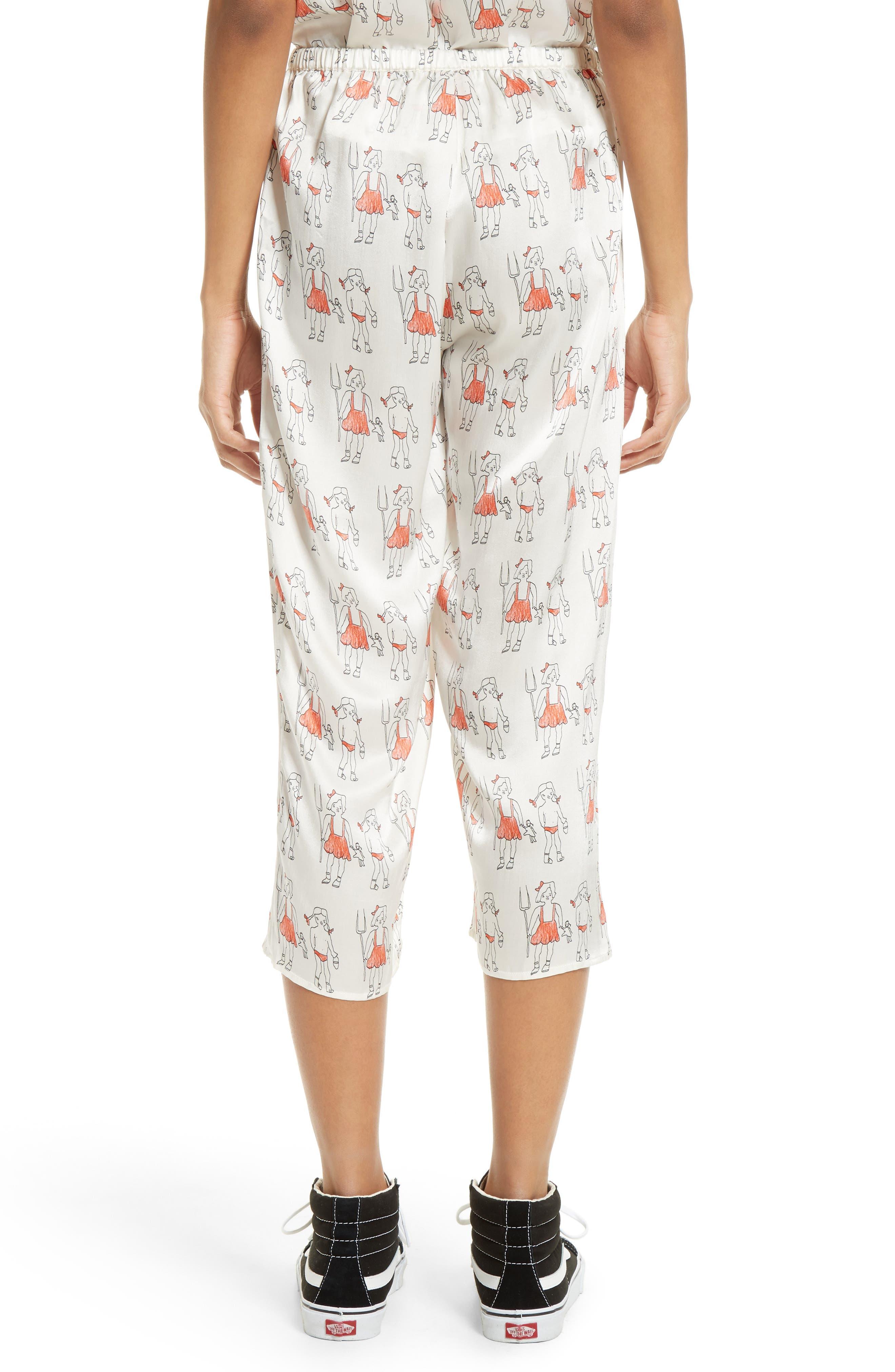 Alternate Image 2  - Shrimps Dagobert Silk Pajama Pants