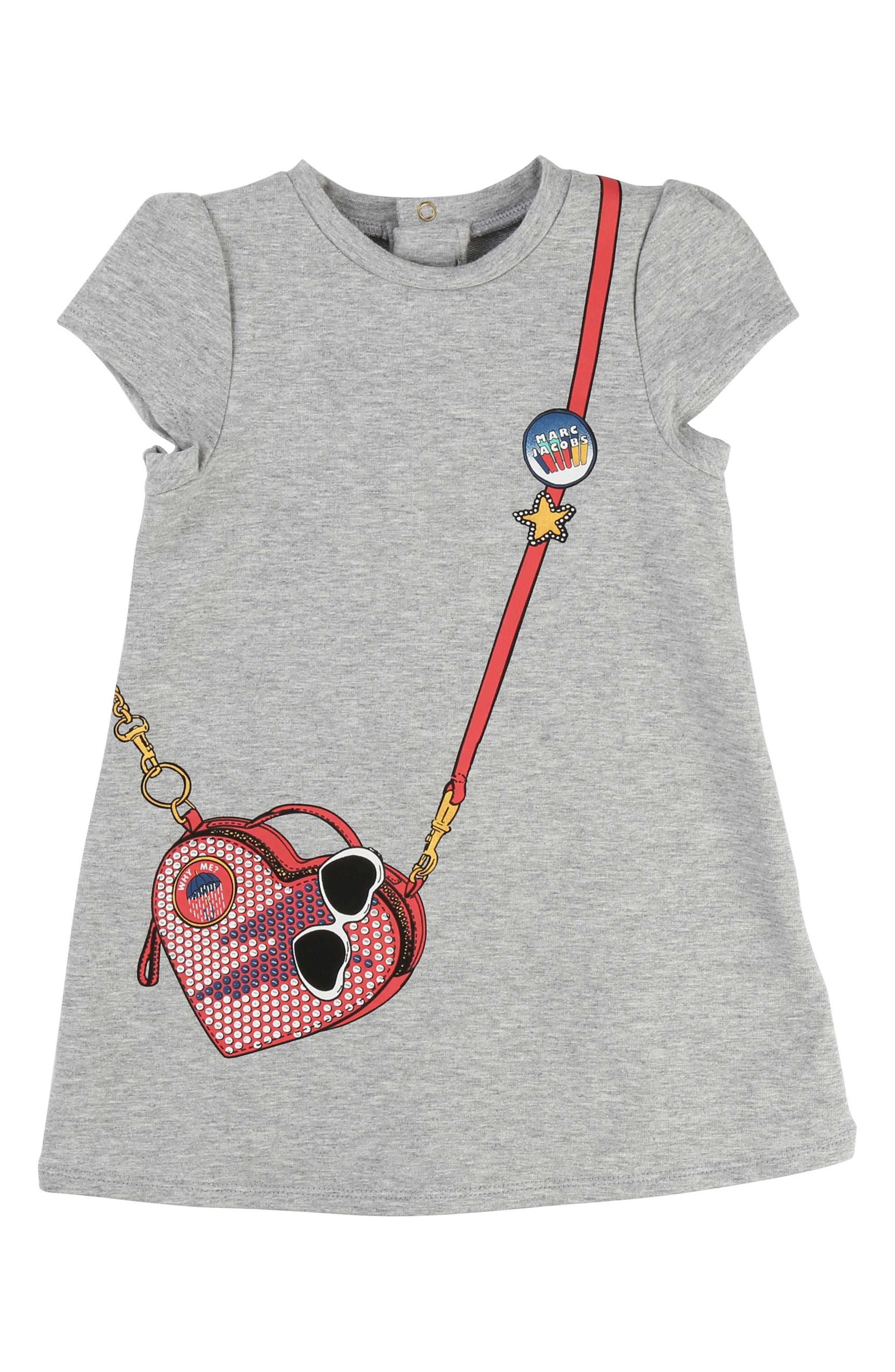 LITTLE MARC JACOBS T-Shirt Dress (Baby Girls)