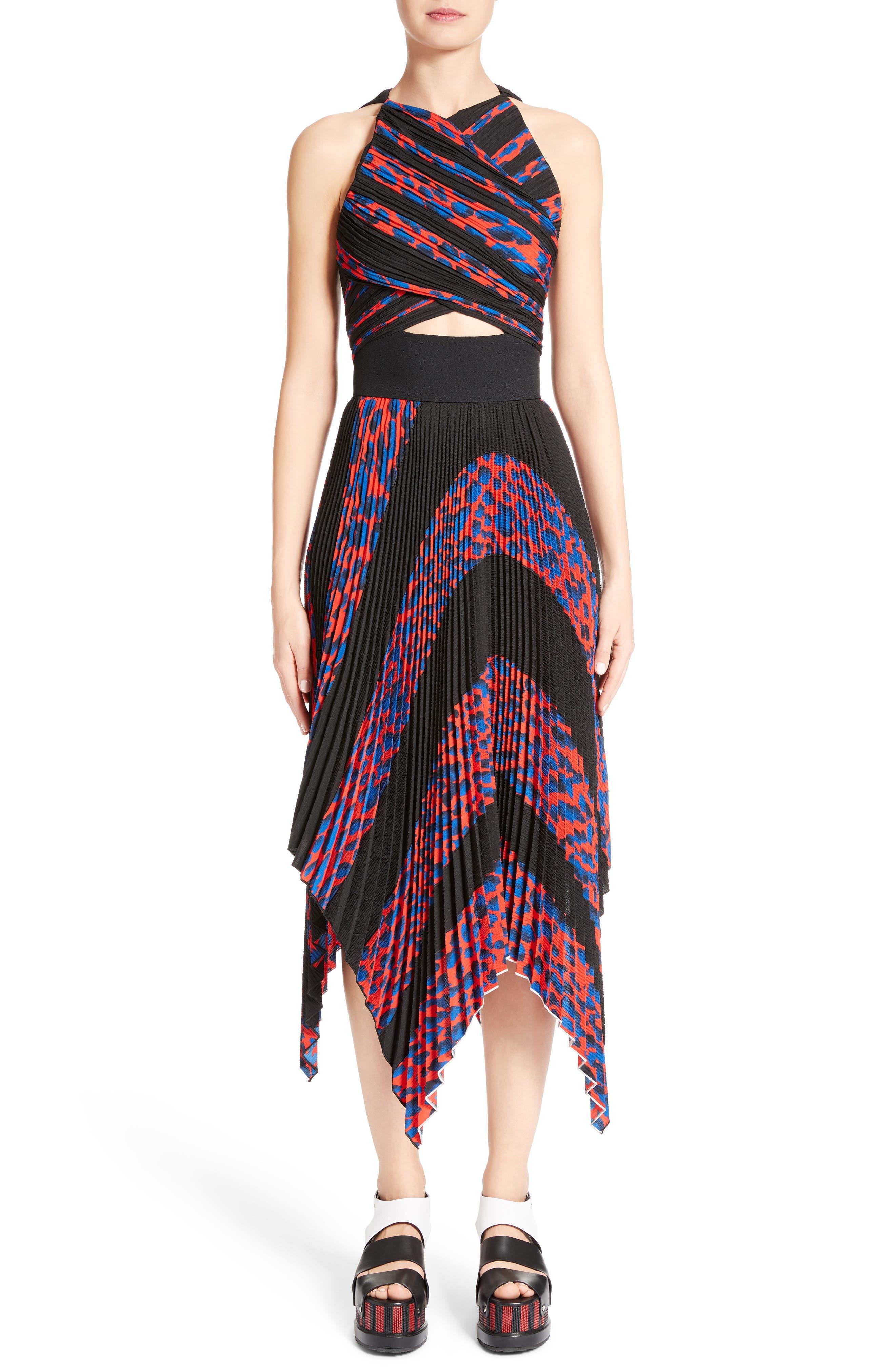 PROENZA SCHOULER Pleated Cloqué Midi Dress