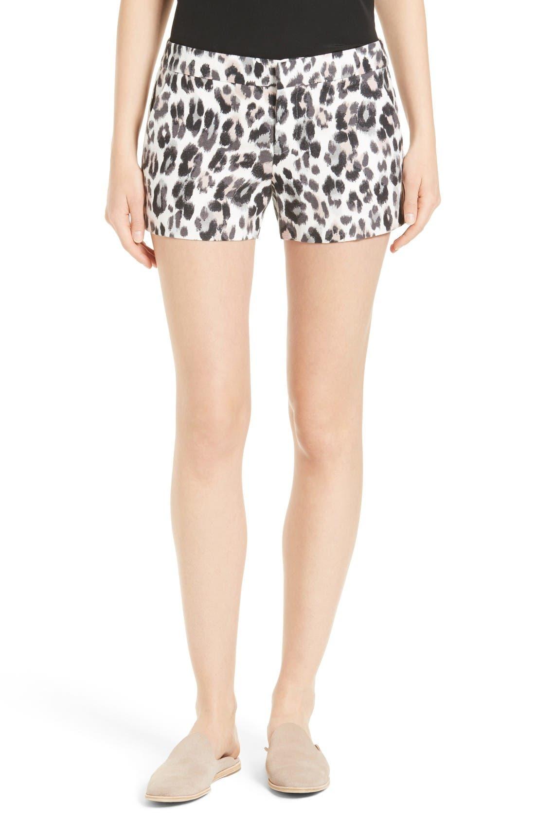 JOIE Merci Leopard Print Shorts