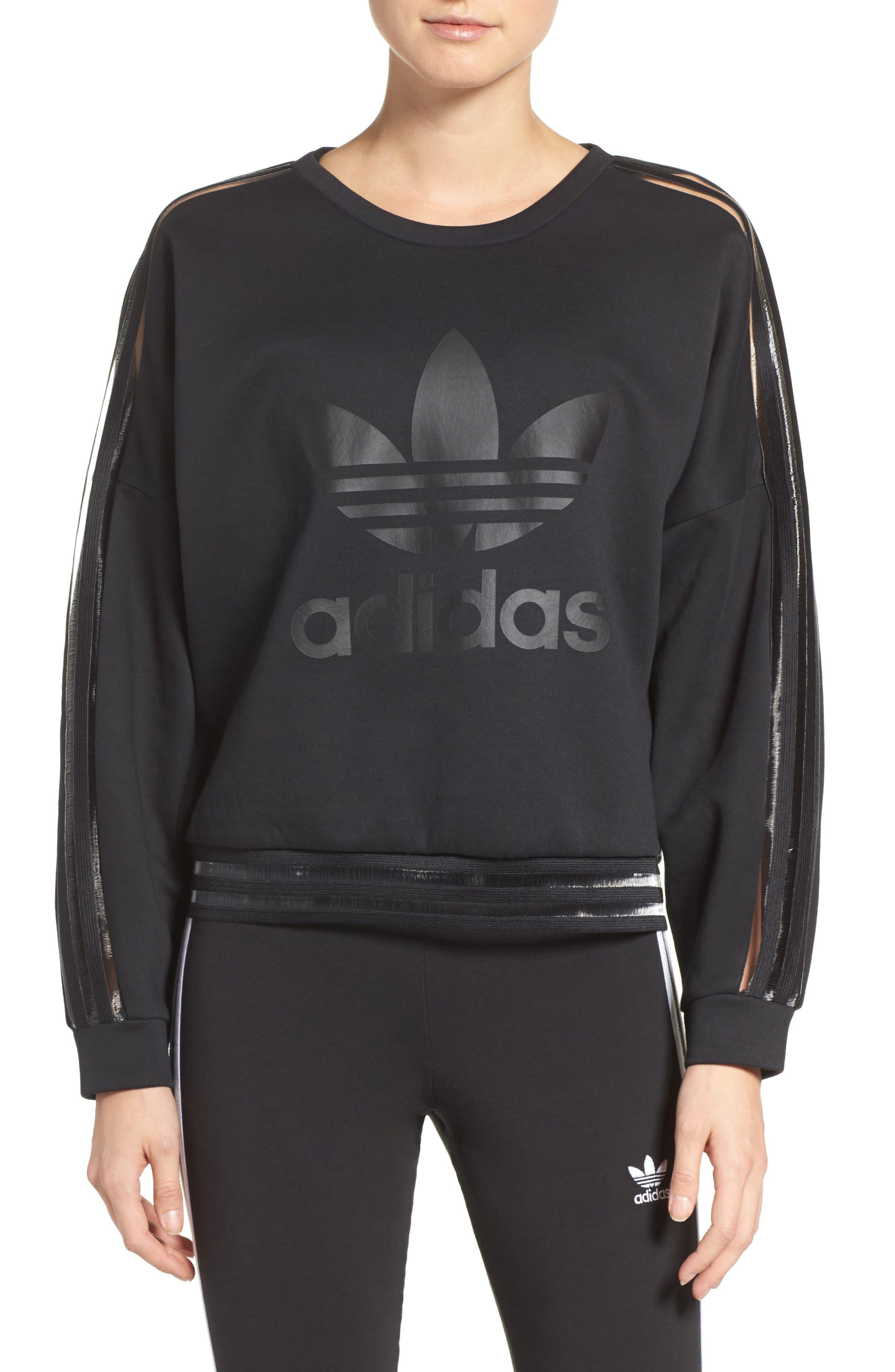 Alternate Image 1 Selected - adidas Originals Shadow Stripe Sweatshirt